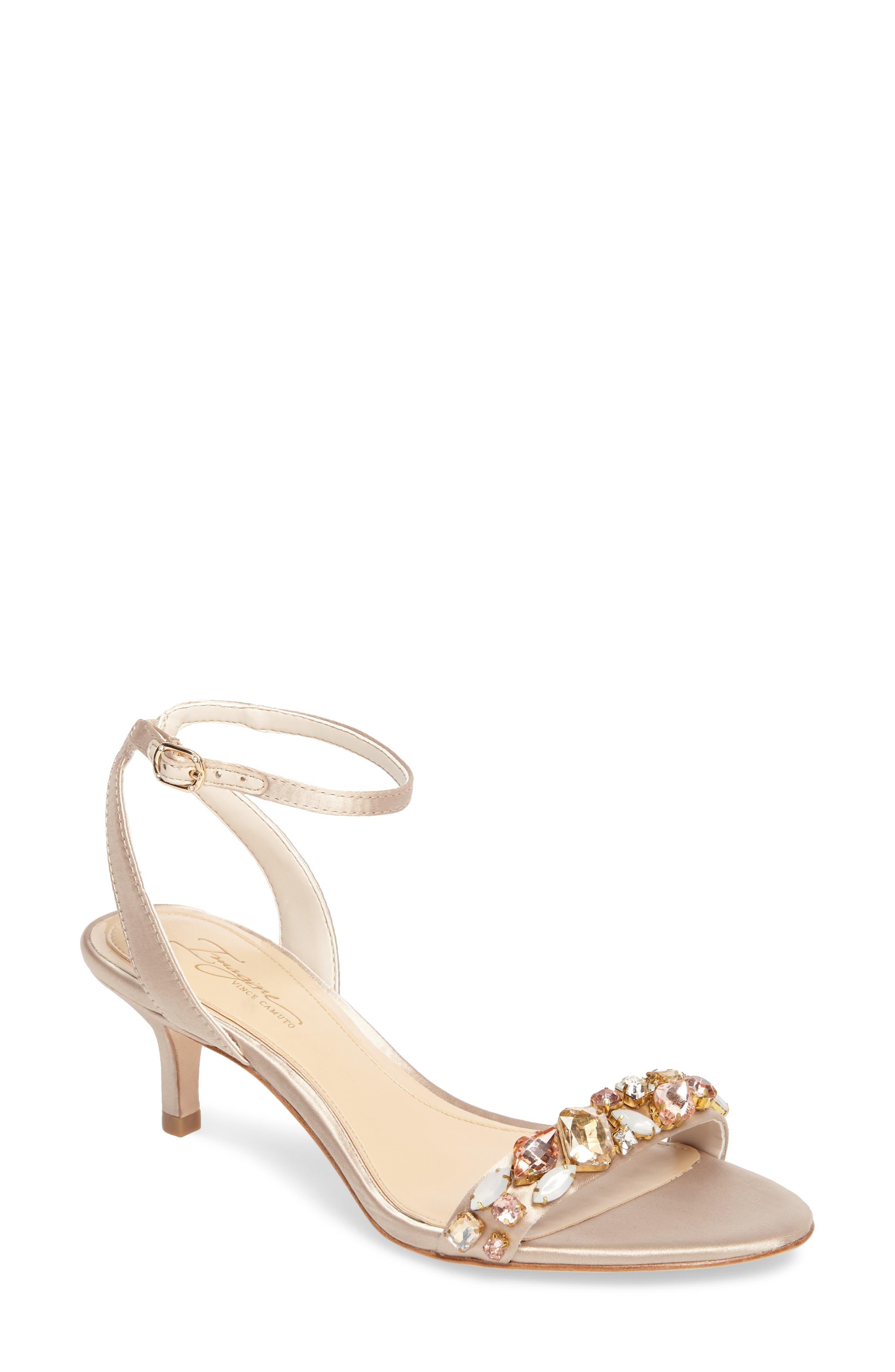 Imagine Vince Camuto Kolo Embellished Kitten Heel Sandal (Women)