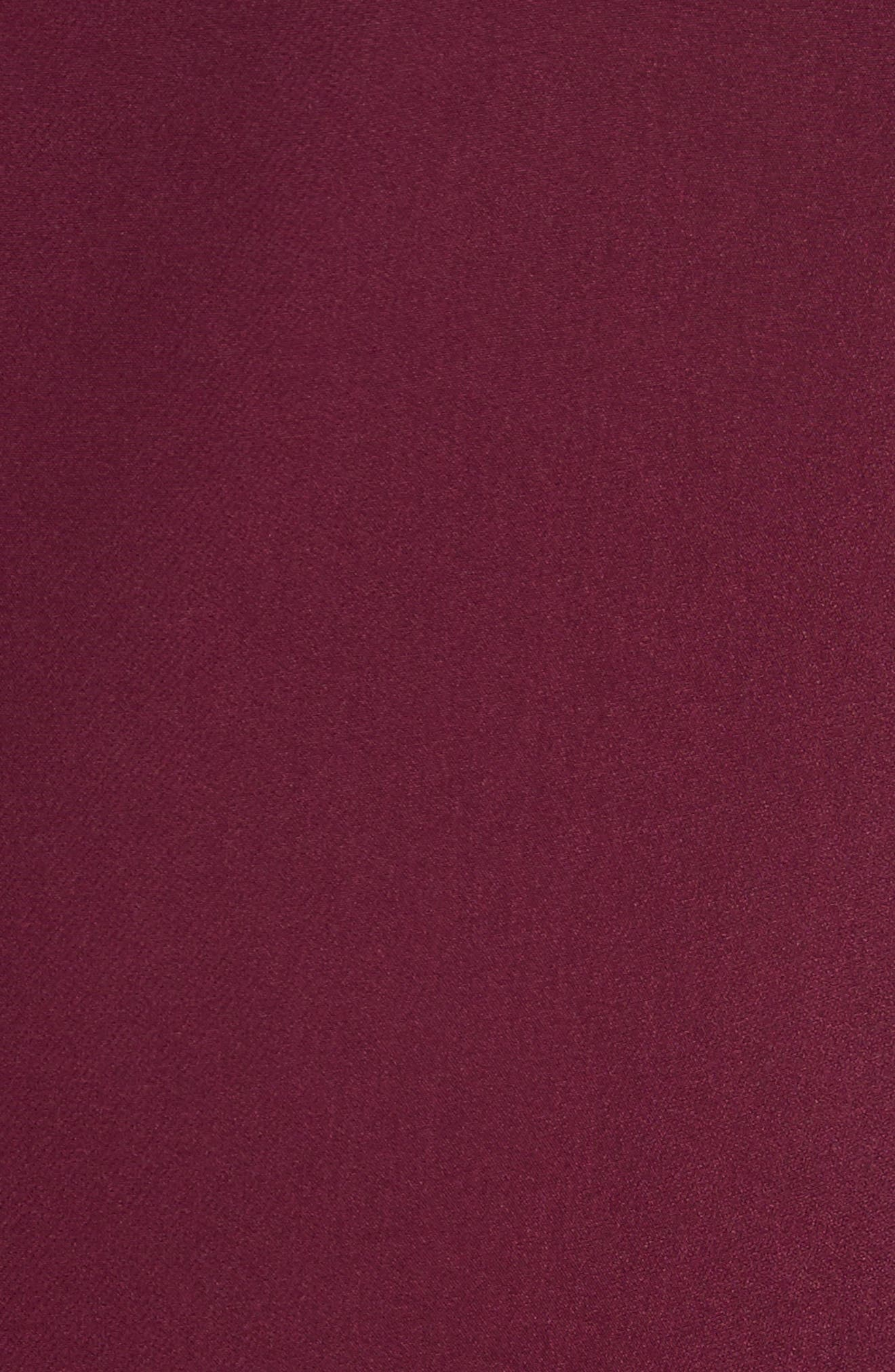 Nicole Bell Sleeve Dress,                             Alternate thumbnail 5, color,                             Burgundy