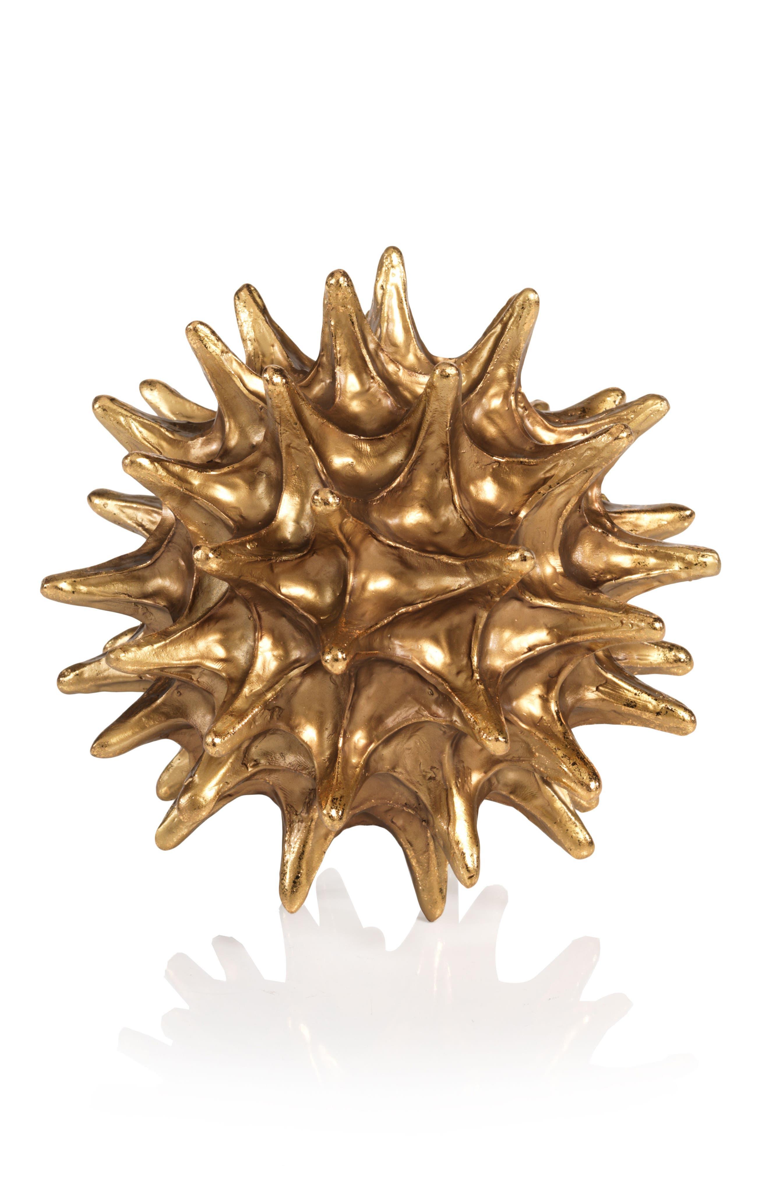 Small Vanna Star Urchin Decoration,                             Main thumbnail 1, color,                             Gold
