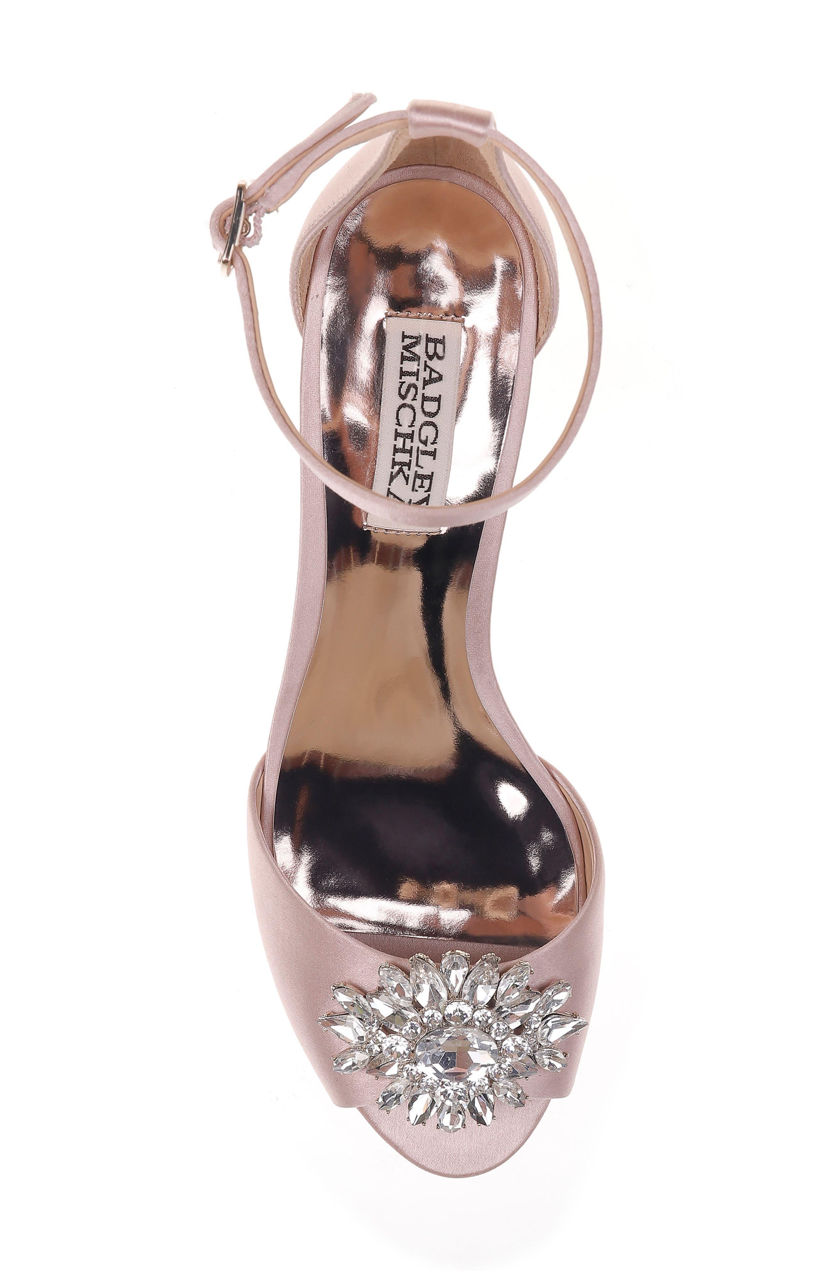 Alternate Image 5  - Badgley Mischka Sainte Crystal Embellished Sandal (Women)
