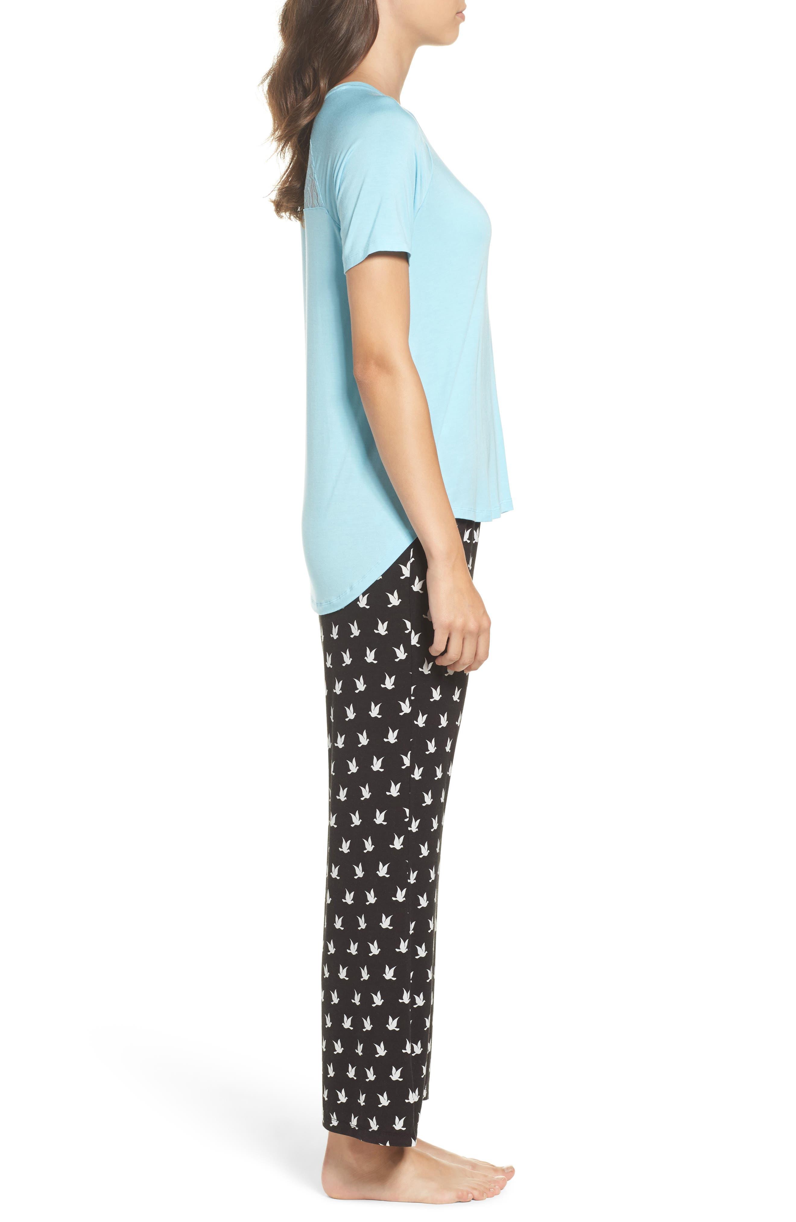 Pajamas,                             Alternate thumbnail 3, color,                             Black