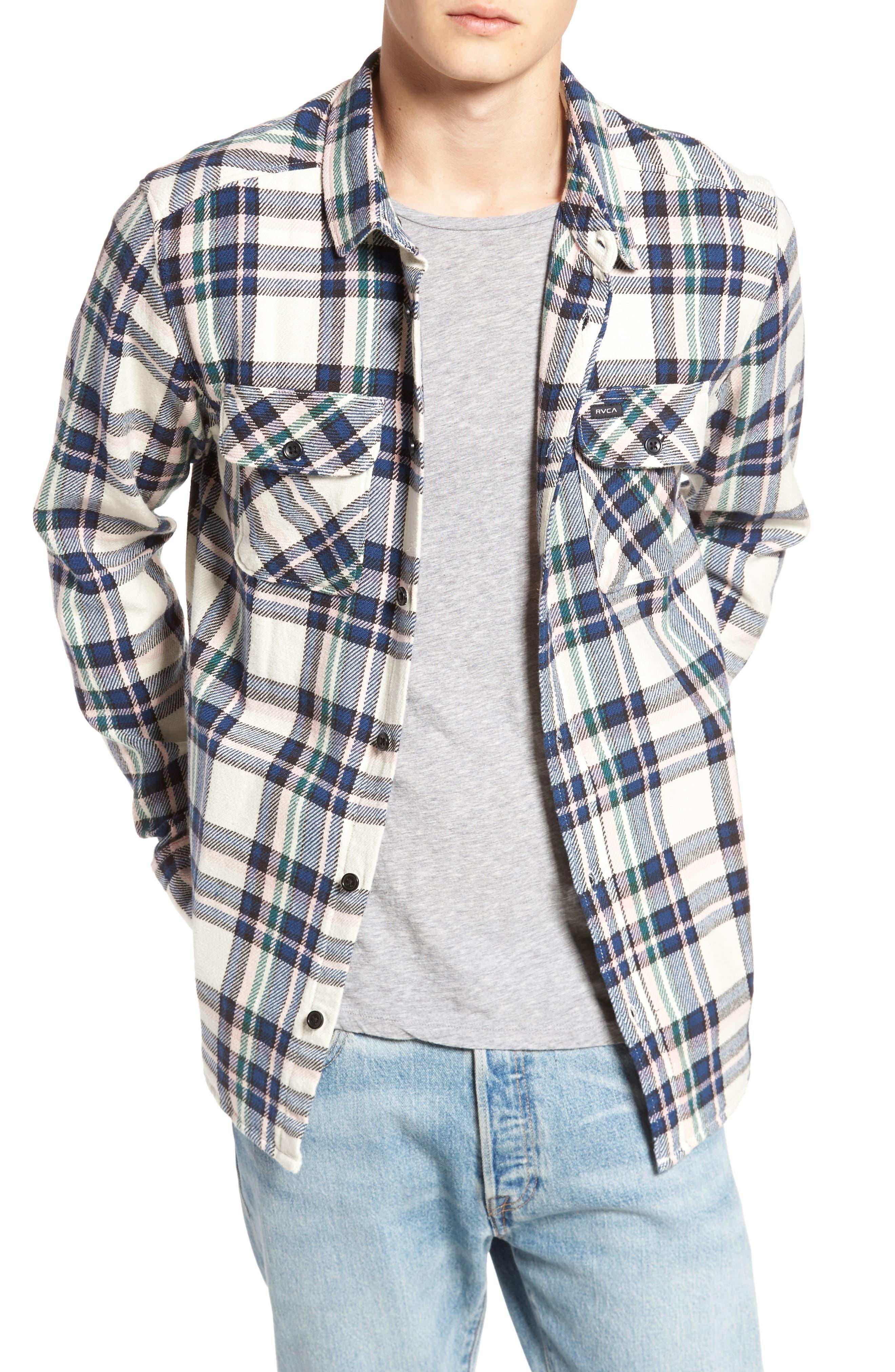 Camino Flannel Shirt,                         Main,                         color, Multi Beige