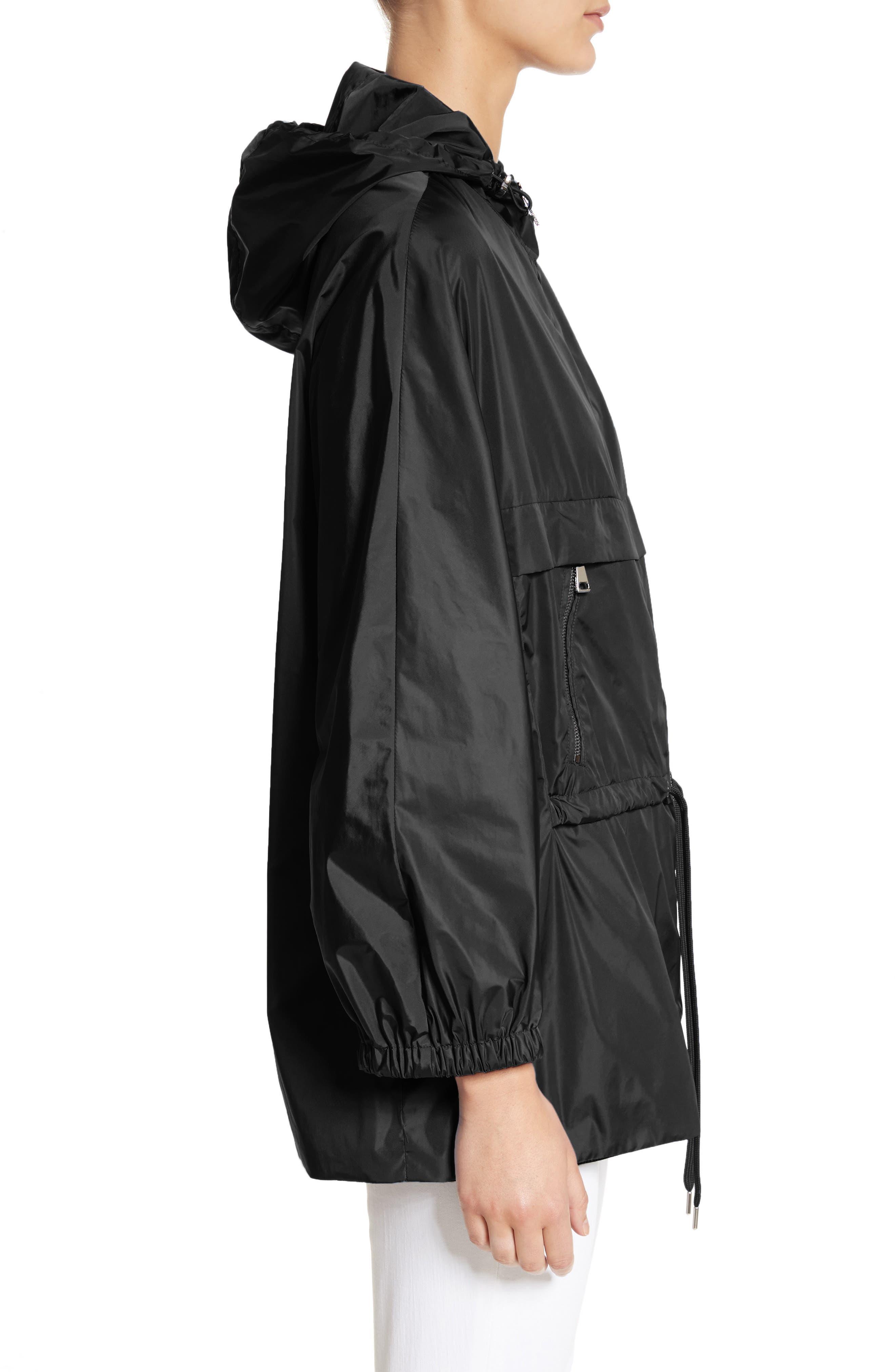 Sanvel Water Resistant Coat,                             Alternate thumbnail 3, color,                             Black