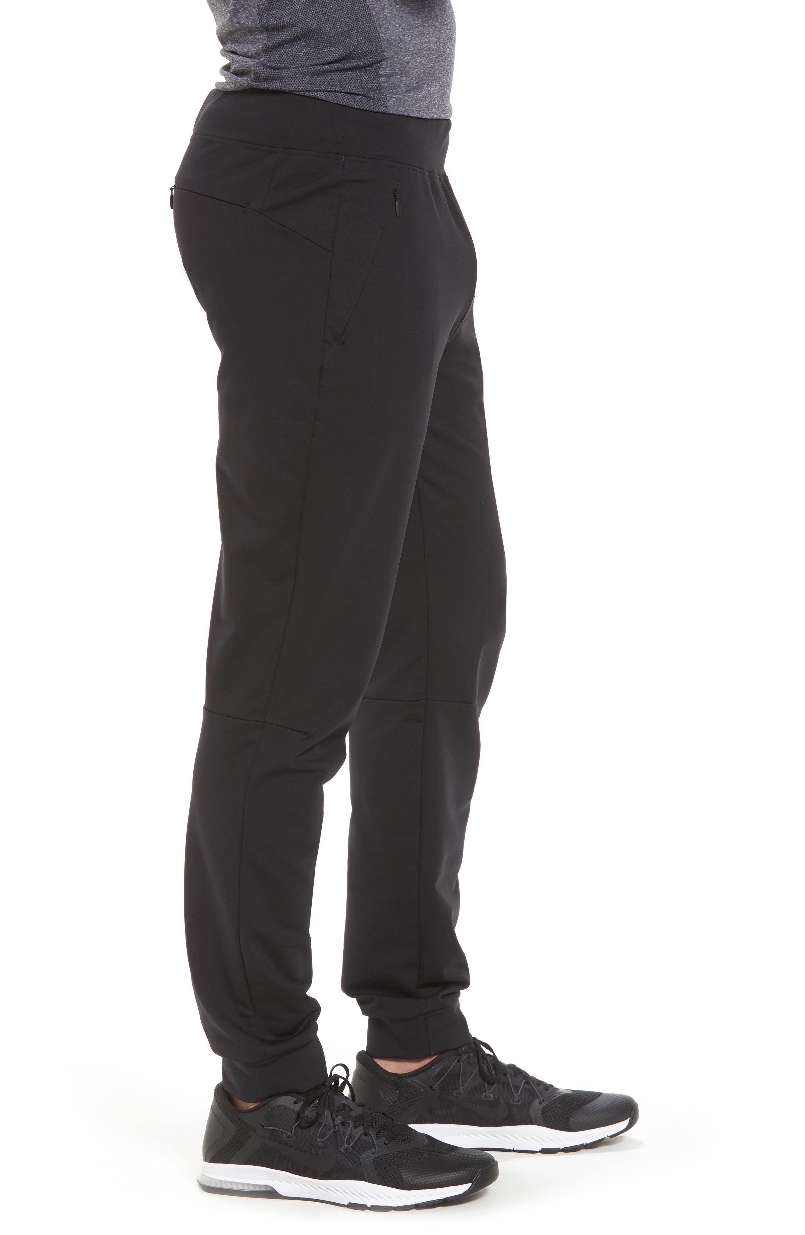 Everywear Jogger Pants,                             Alternate thumbnail 3, color,                             Black