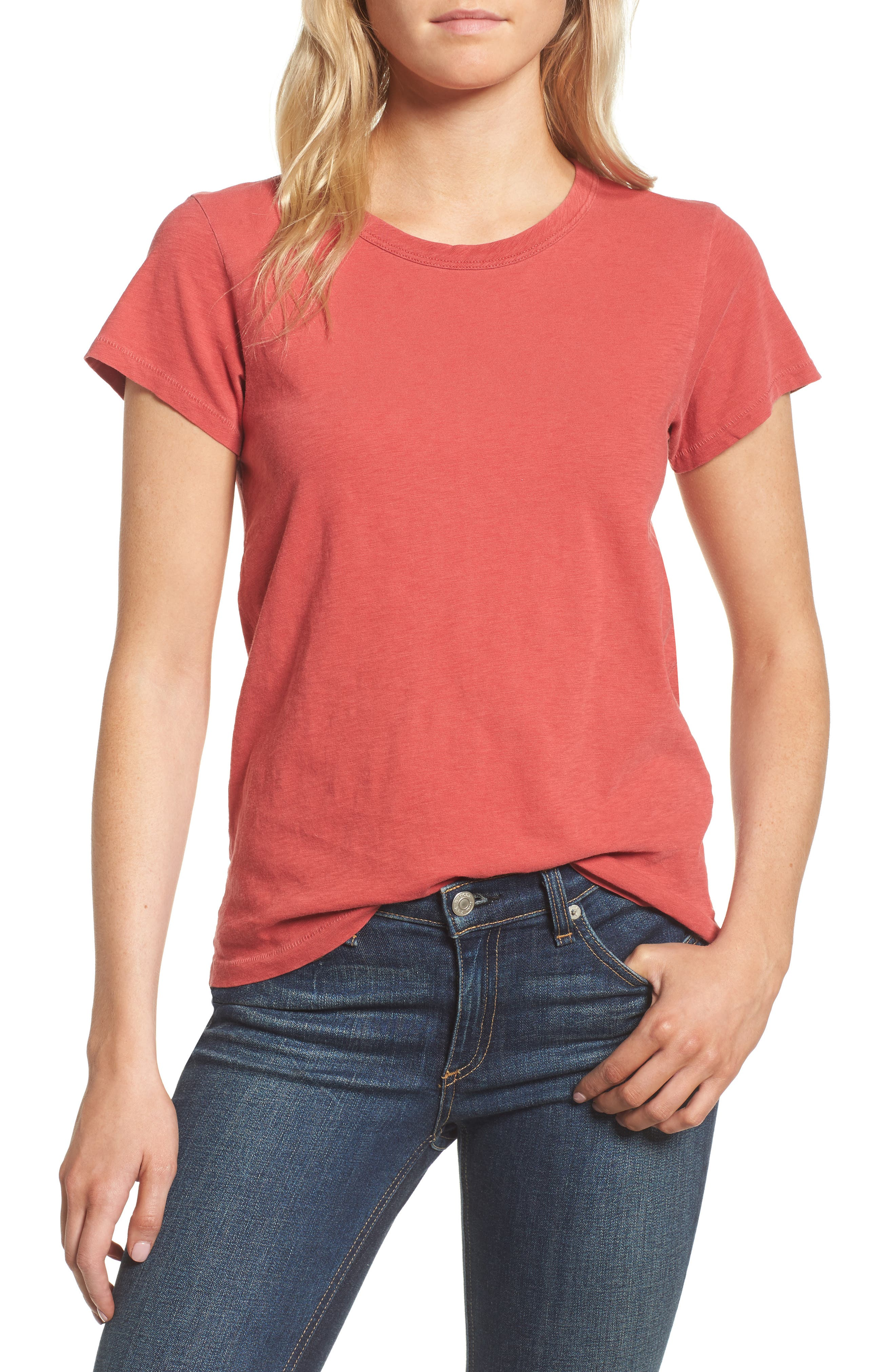 The Tee,                         Main,                         color, Washed Red