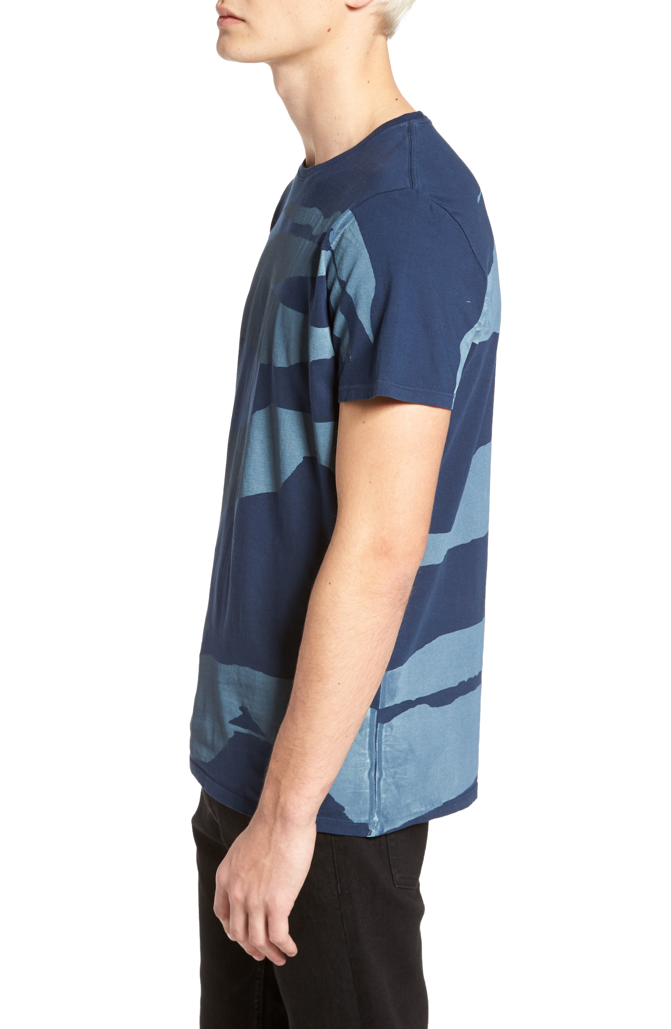 Torn Stripes T-Shirt,                             Alternate thumbnail 3, color,                             Navy