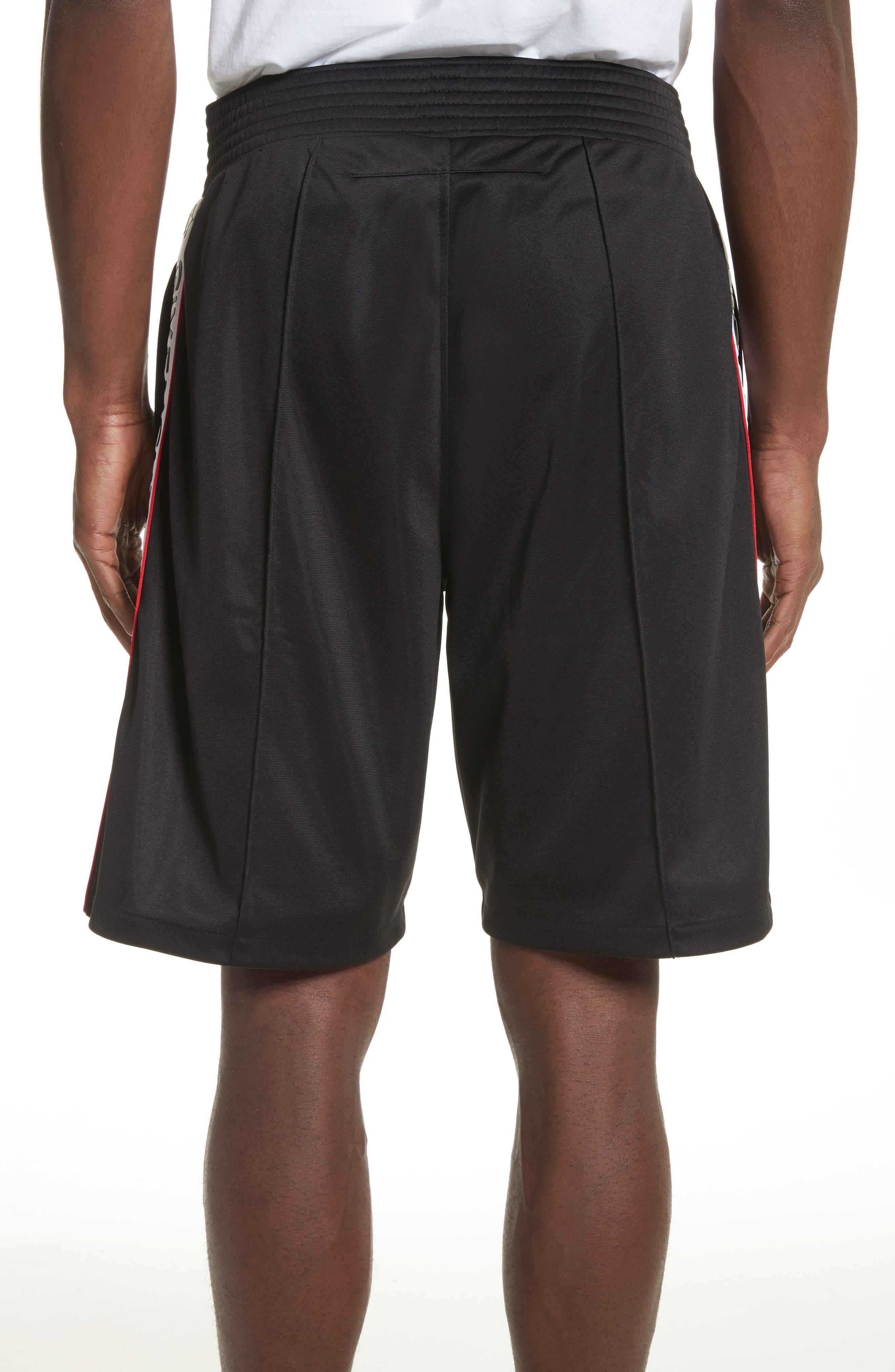 Side Stripe Logo Shorts,                             Alternate thumbnail 2, color,                             Black