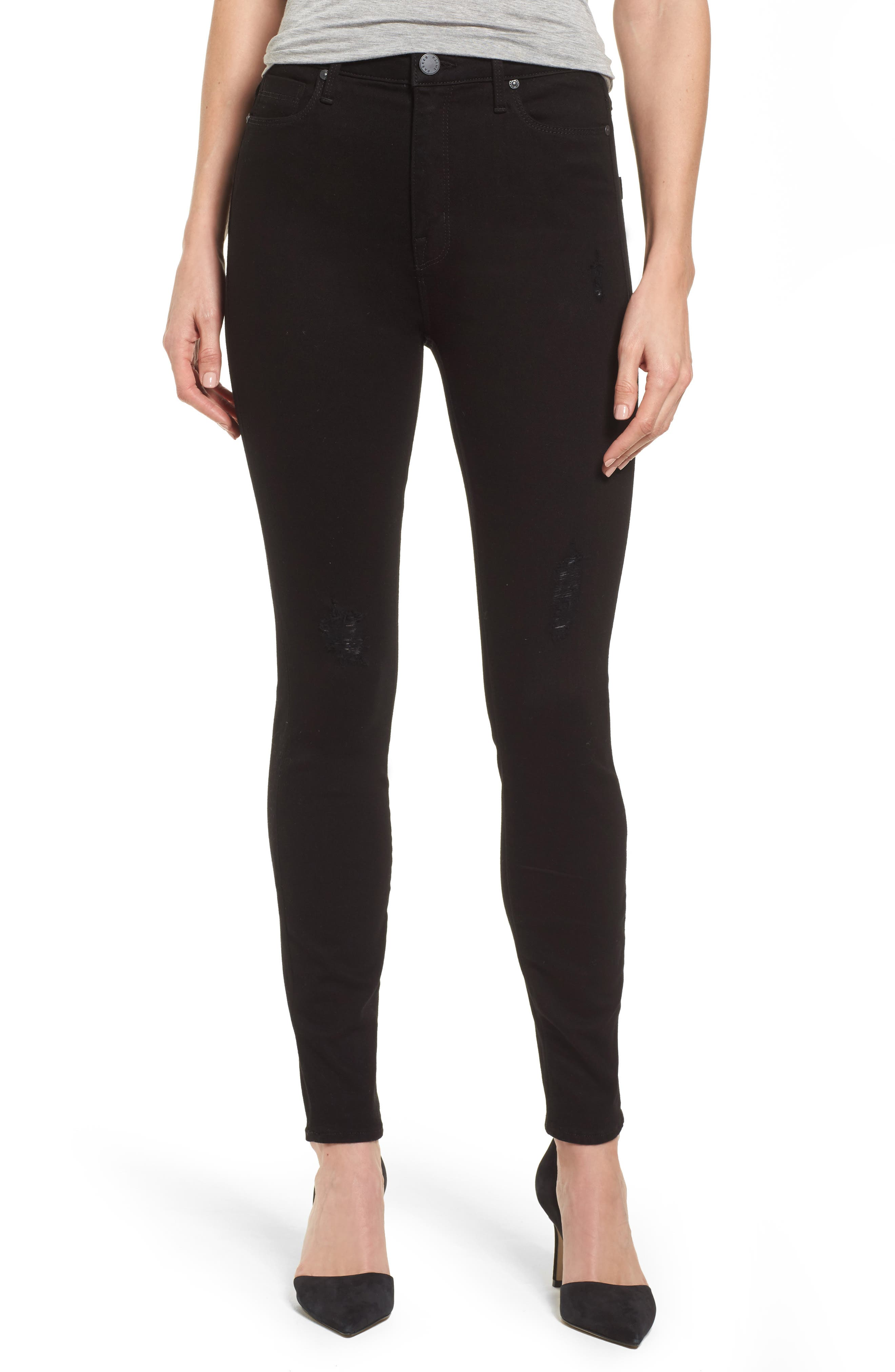 Bombshell Skinny Jeans,                         Main,                         color, Black Sea