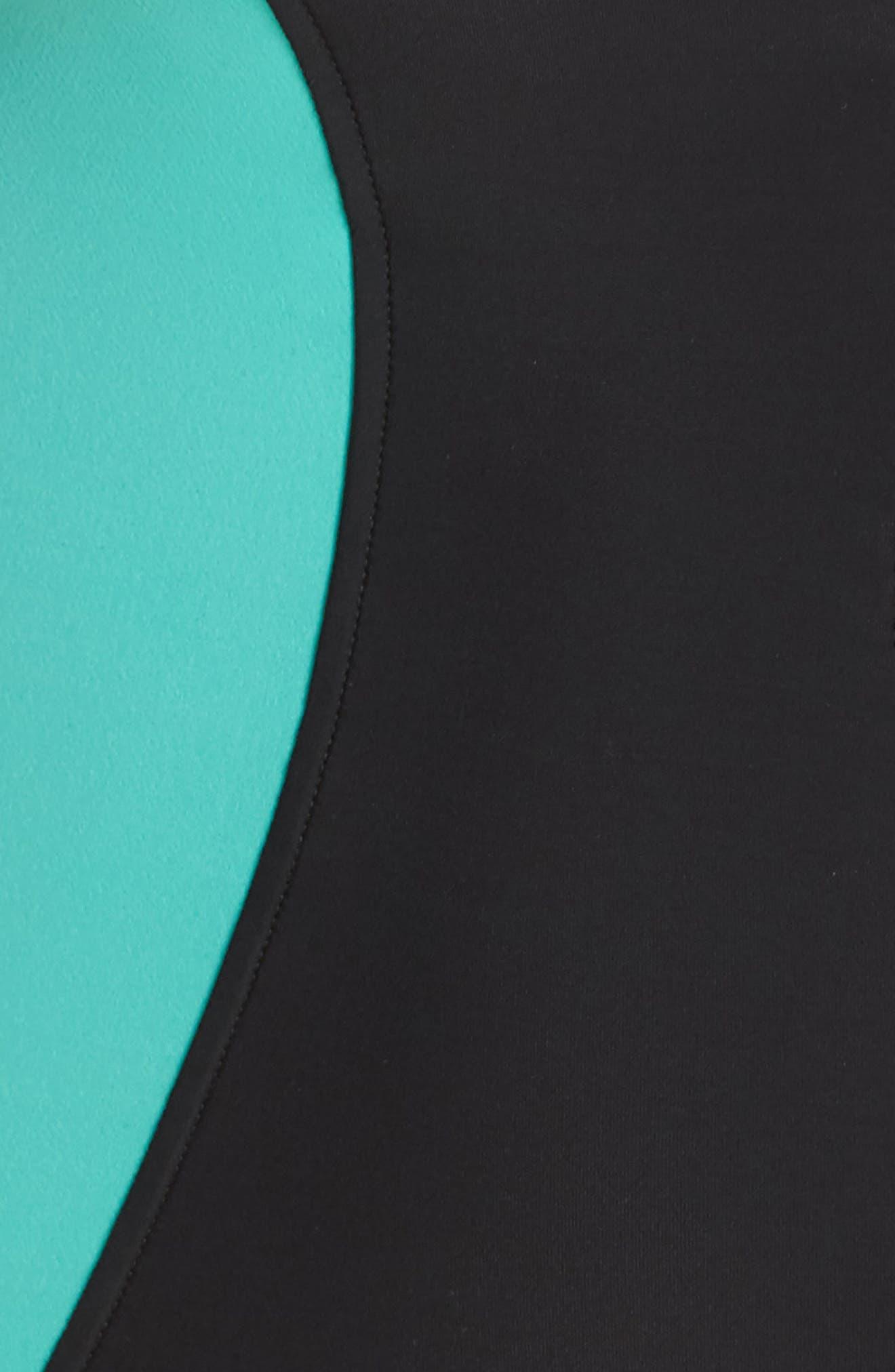 Dive In Nikki One-Piece Swimsuit,                             Alternate thumbnail 5, color,                             Black Multi