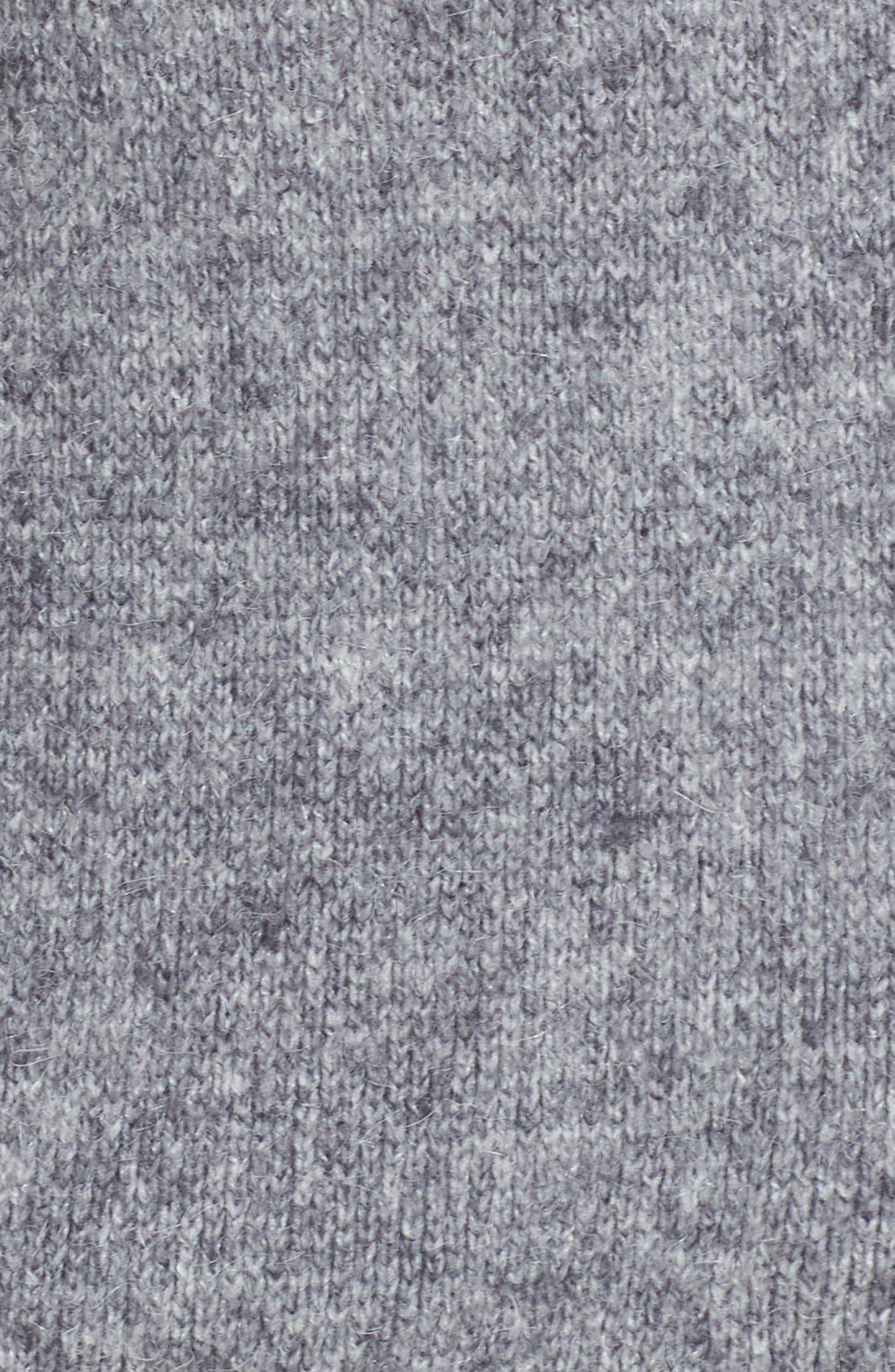 Zanja Embroidered Knit Bomber Jacket,                             Alternate thumbnail 5, color,                             Medium Grey Melange