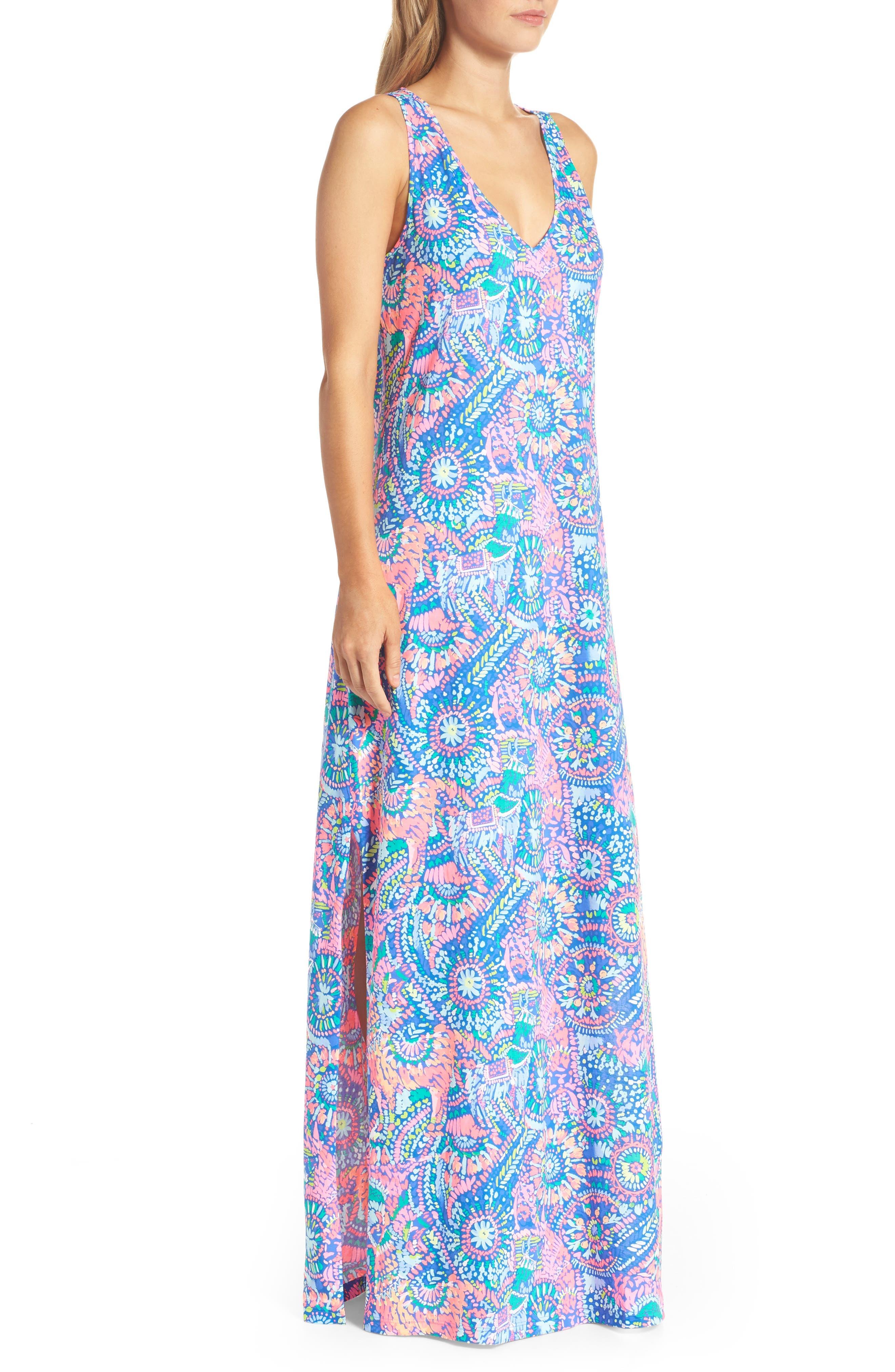 Kerri Maxi Dress,                             Alternate thumbnail 3, color,                             Multi Llama