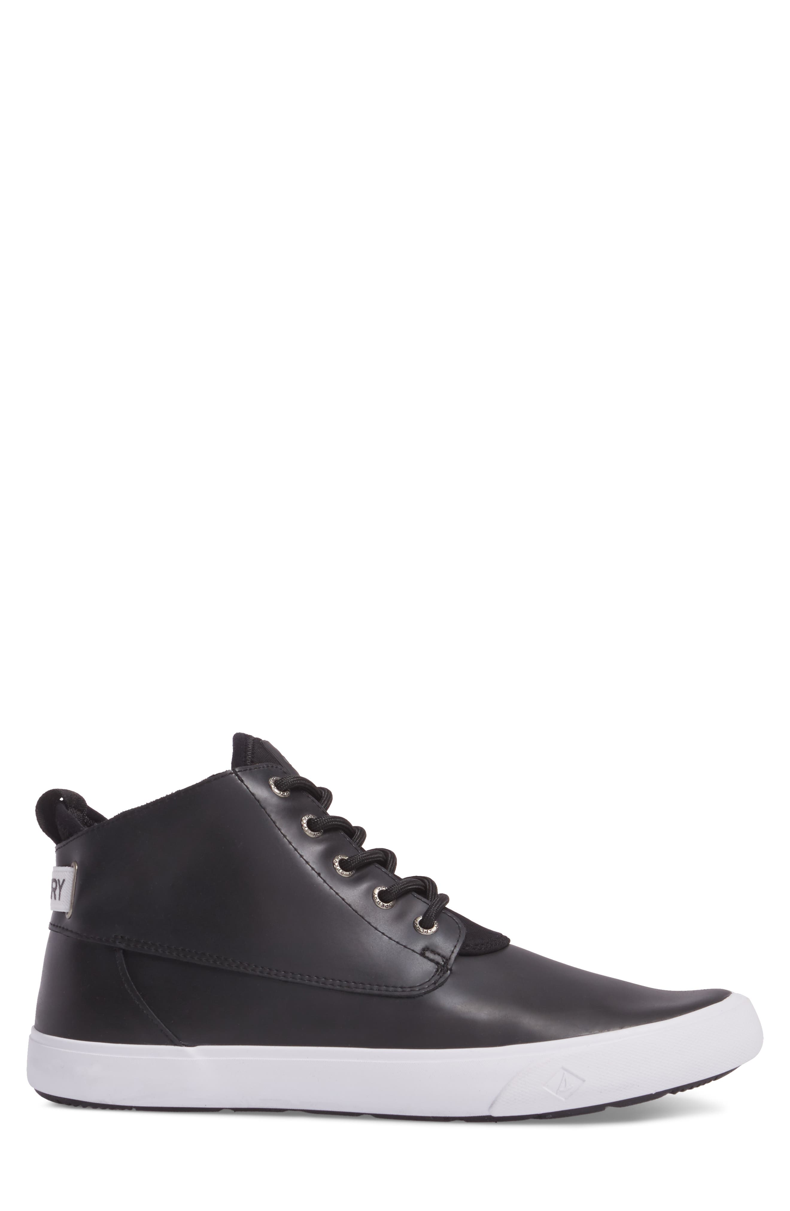 Cutwater Chukka Boot,                             Alternate thumbnail 3, color,                             Black Leather