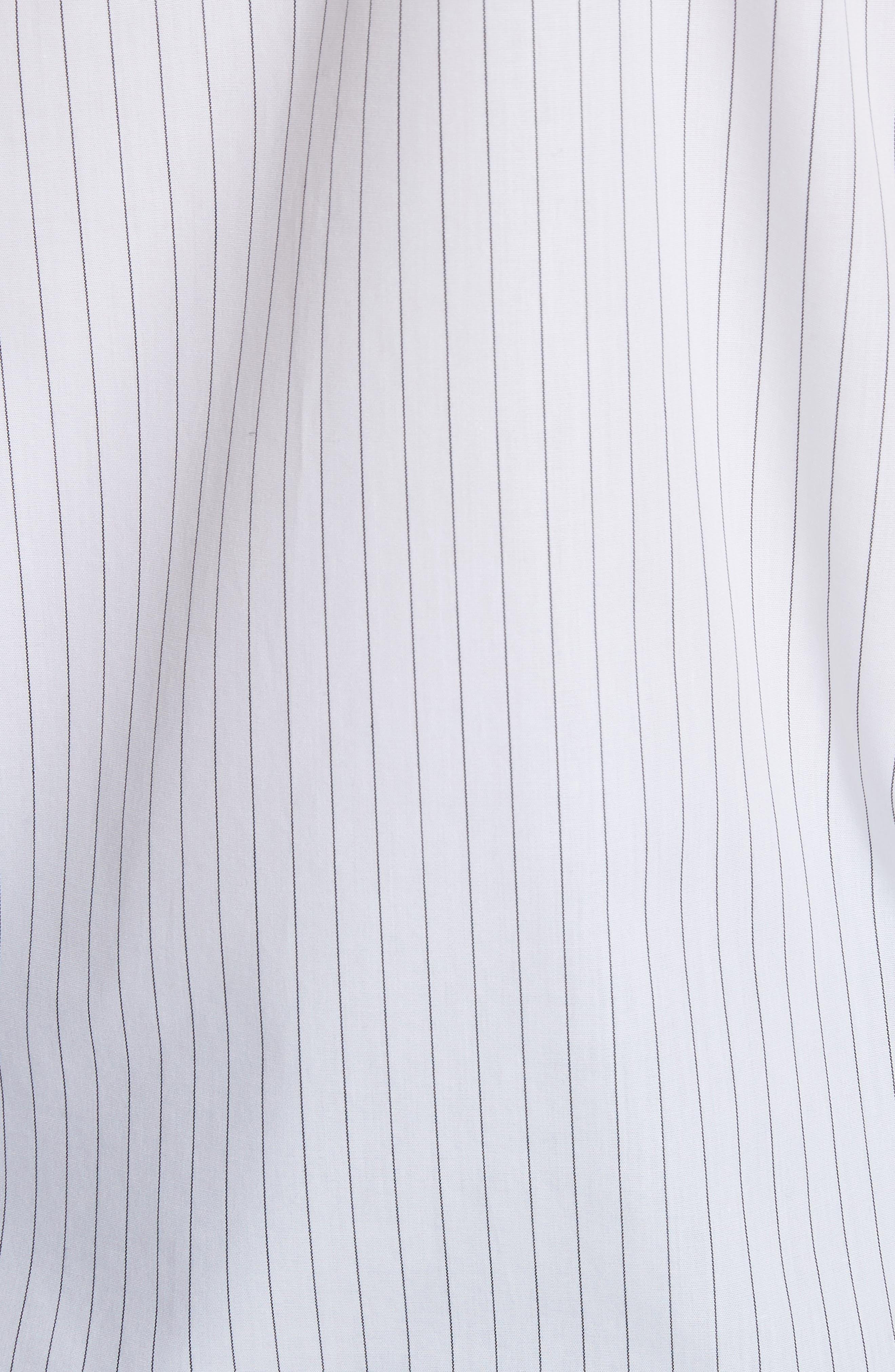 Sleeveless Poplin Top,                             Alternate thumbnail 5, color,                             White/ Black Stripe