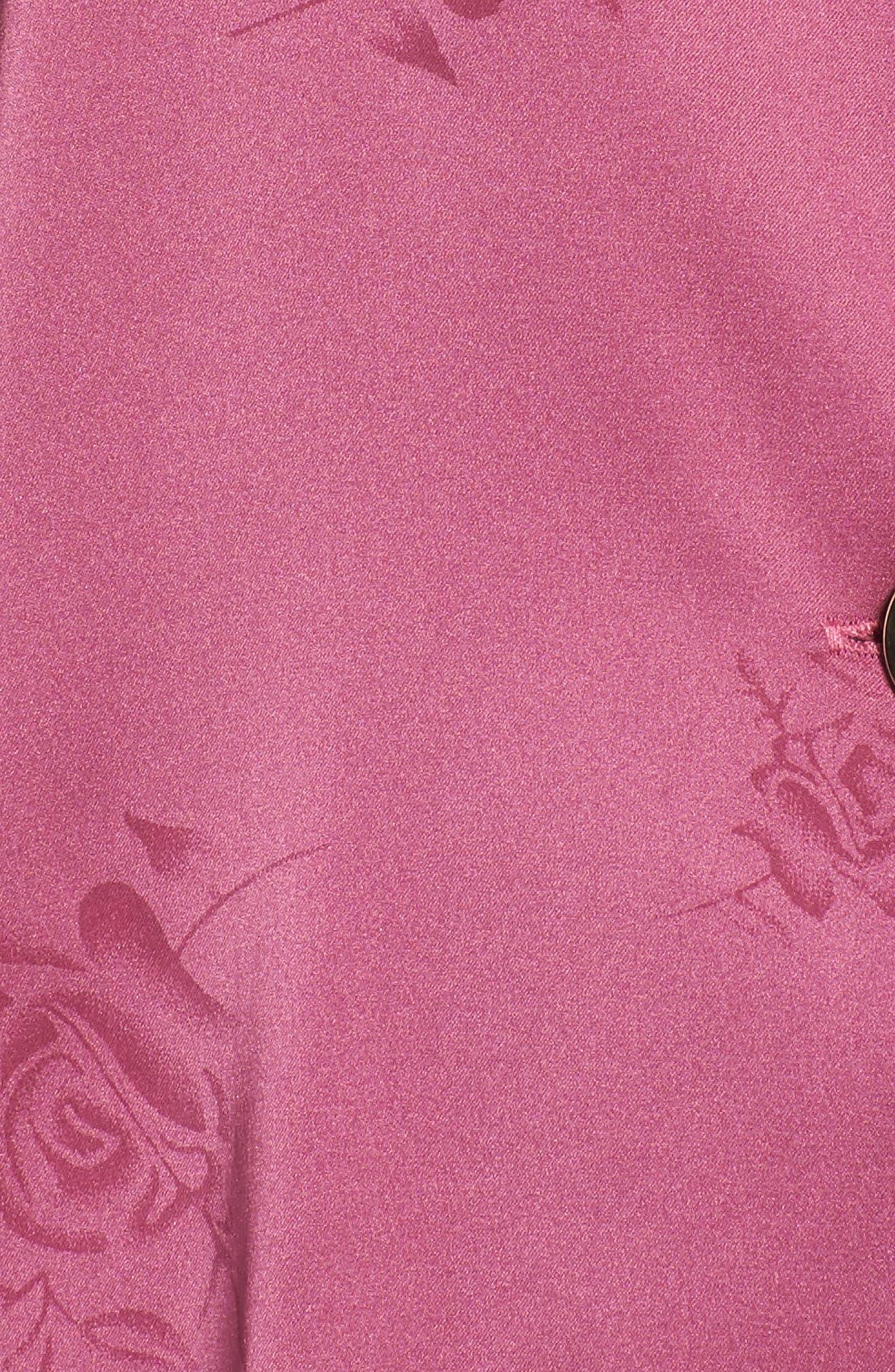 Crop Pajamas,                             Alternate thumbnail 6, color,                             Raspberry