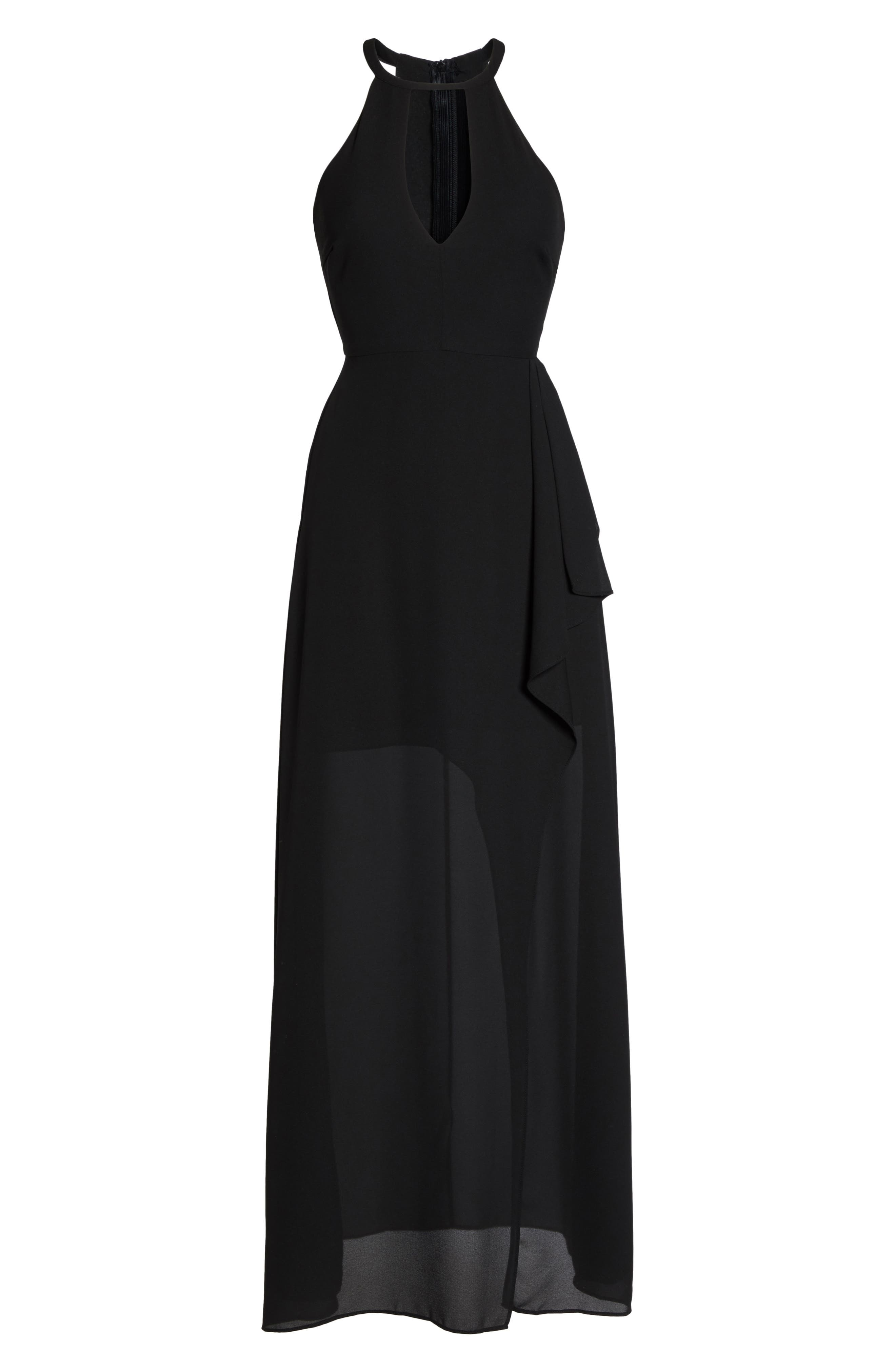 I Spy Maxi Dress,                             Alternate thumbnail 6, color,                             Black