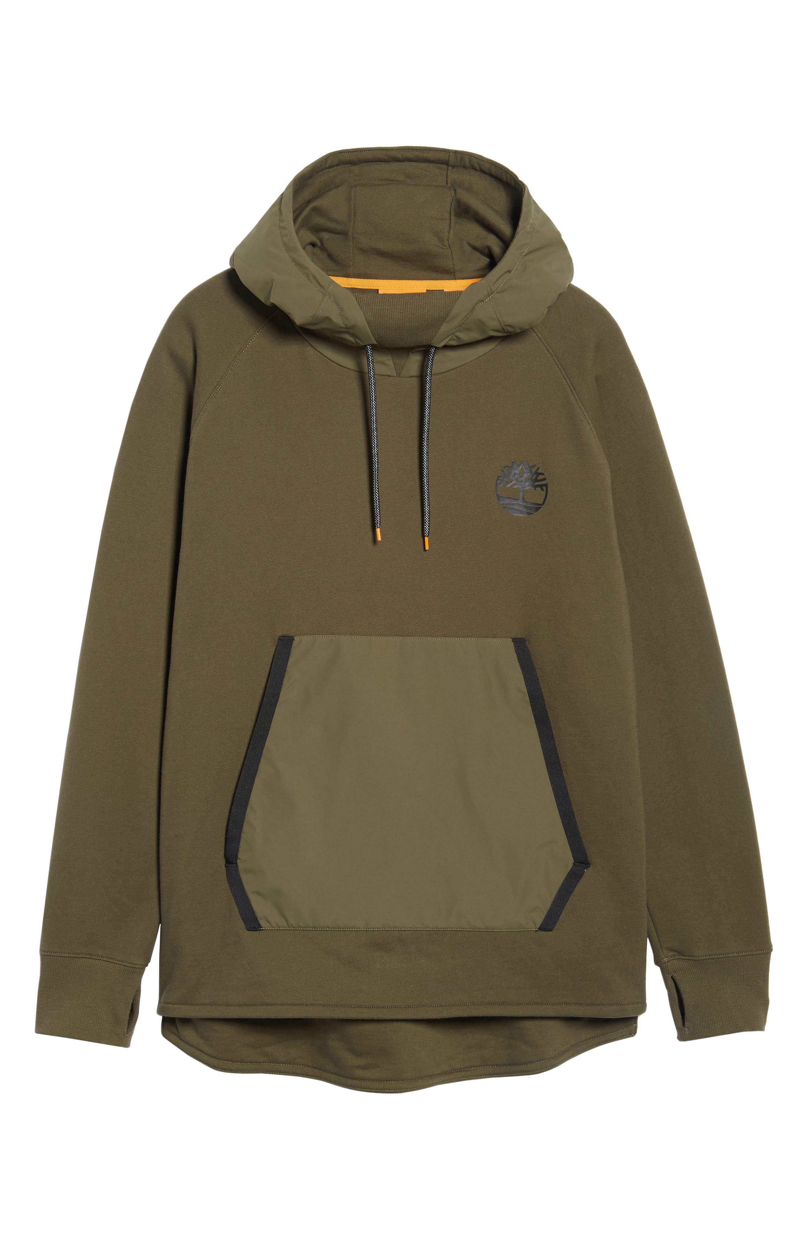 Mixed Media Oversize Hoodie,                             Alternate thumbnail 6, color,                             Olive Night
