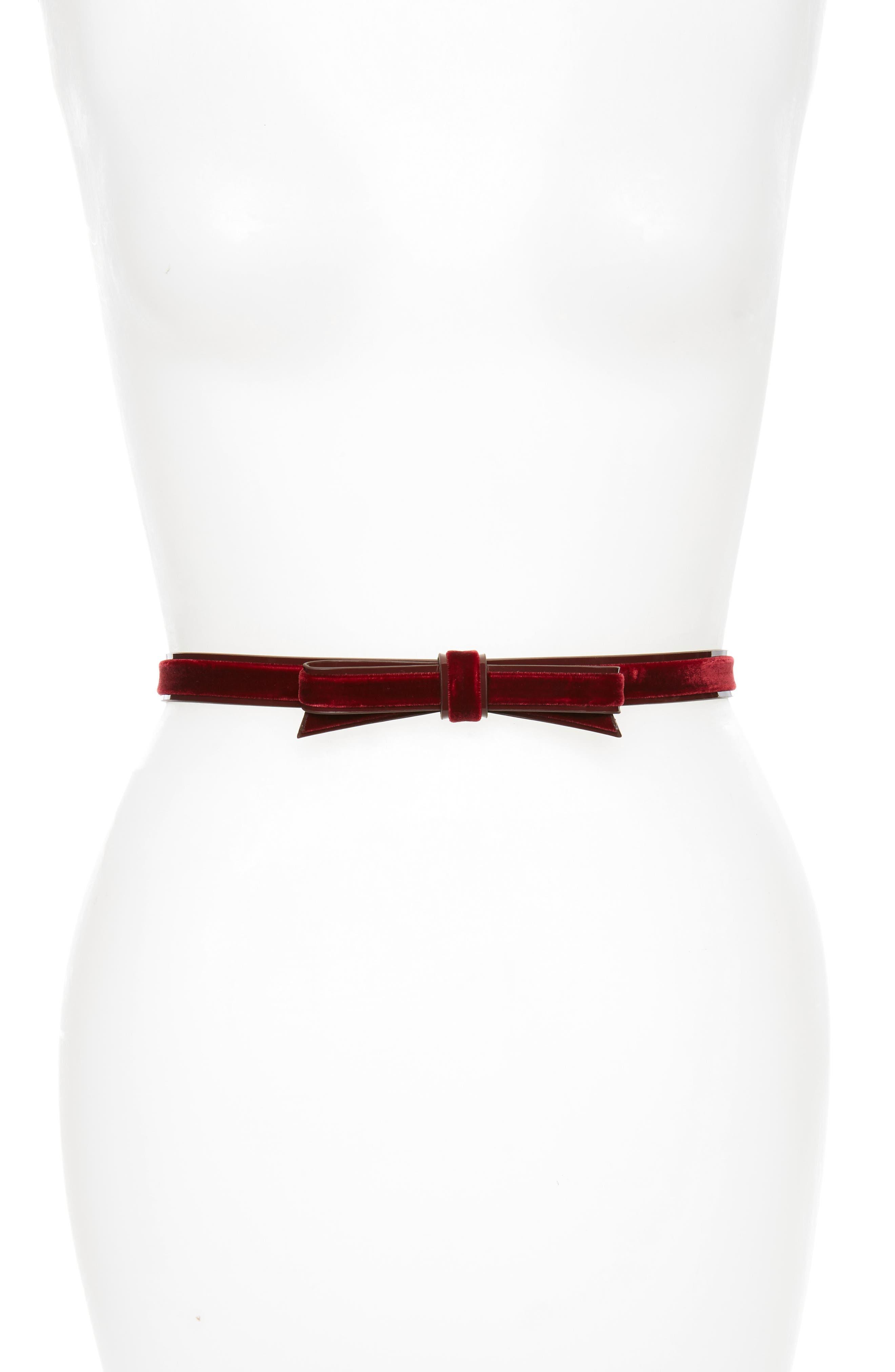 Alternate Image 1 Selected - kate spade new york classic velvet bow belt