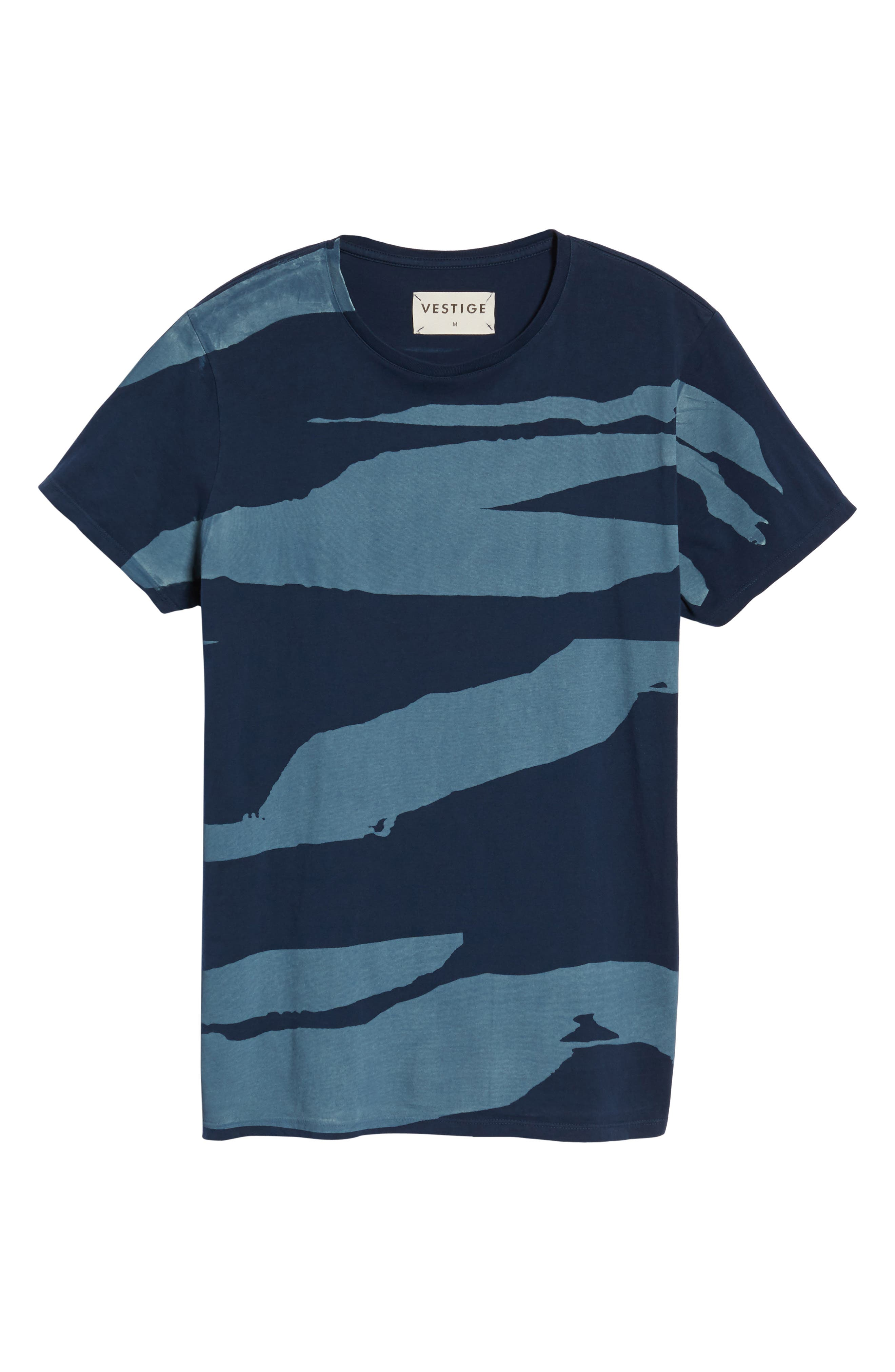 Torn Stripes T-Shirt,                             Alternate thumbnail 6, color,                             Navy
