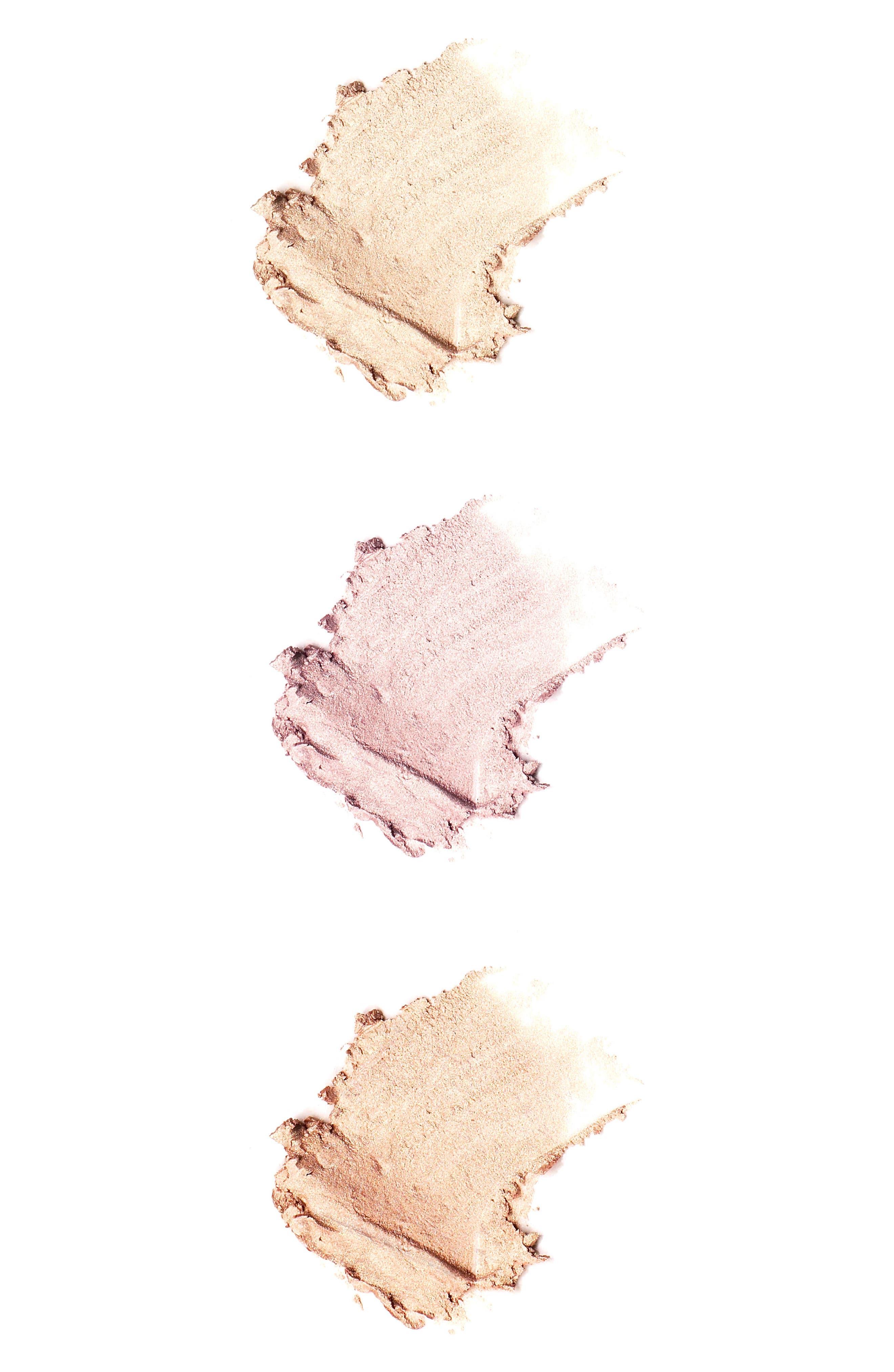 Skinny Dip, Peach & Rose Gold Powder Highlighter Trio,                             Alternate thumbnail 3, color,                             No Color