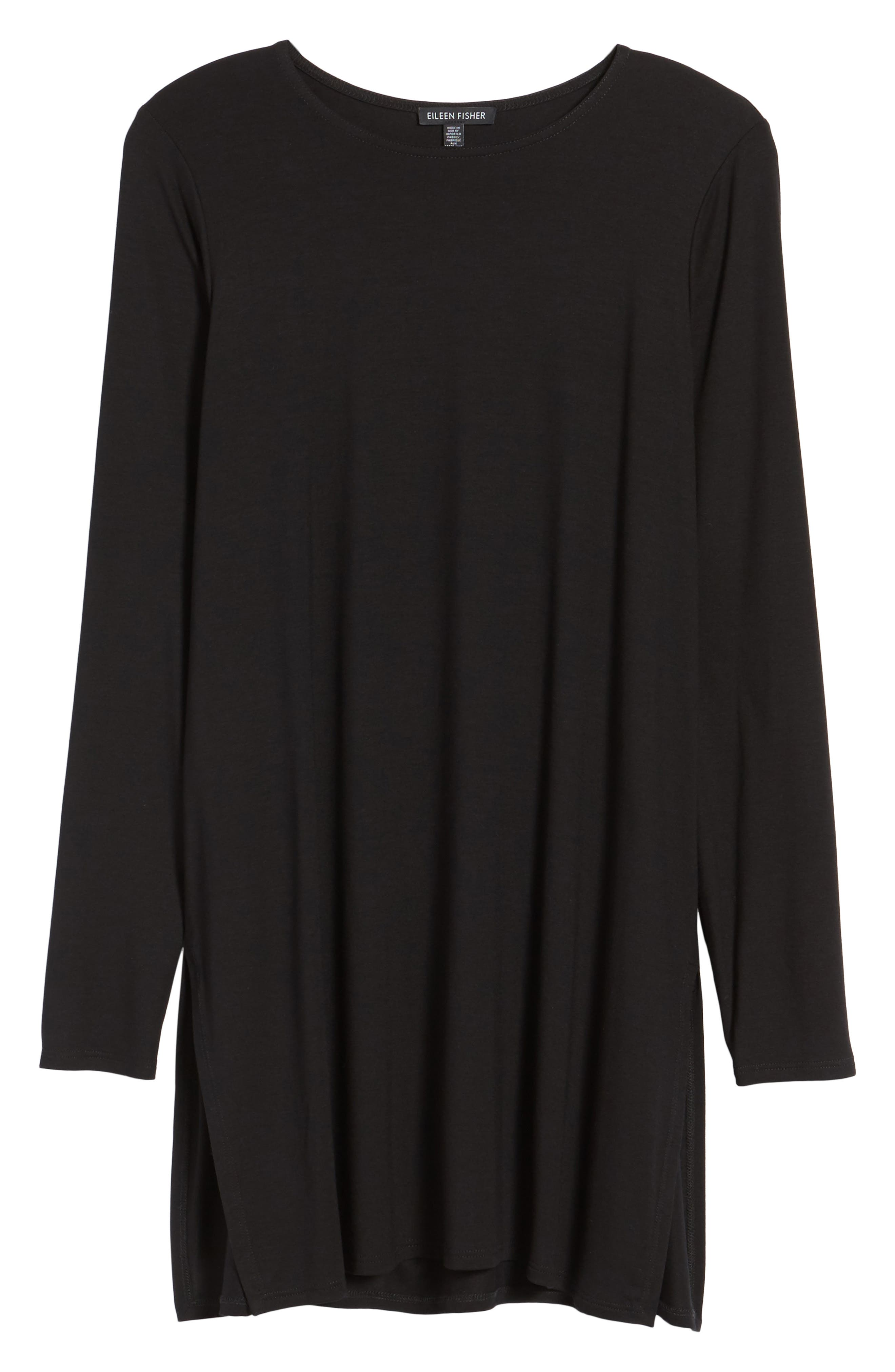 Jersey Tunic,                             Alternate thumbnail 6, color,                             Black