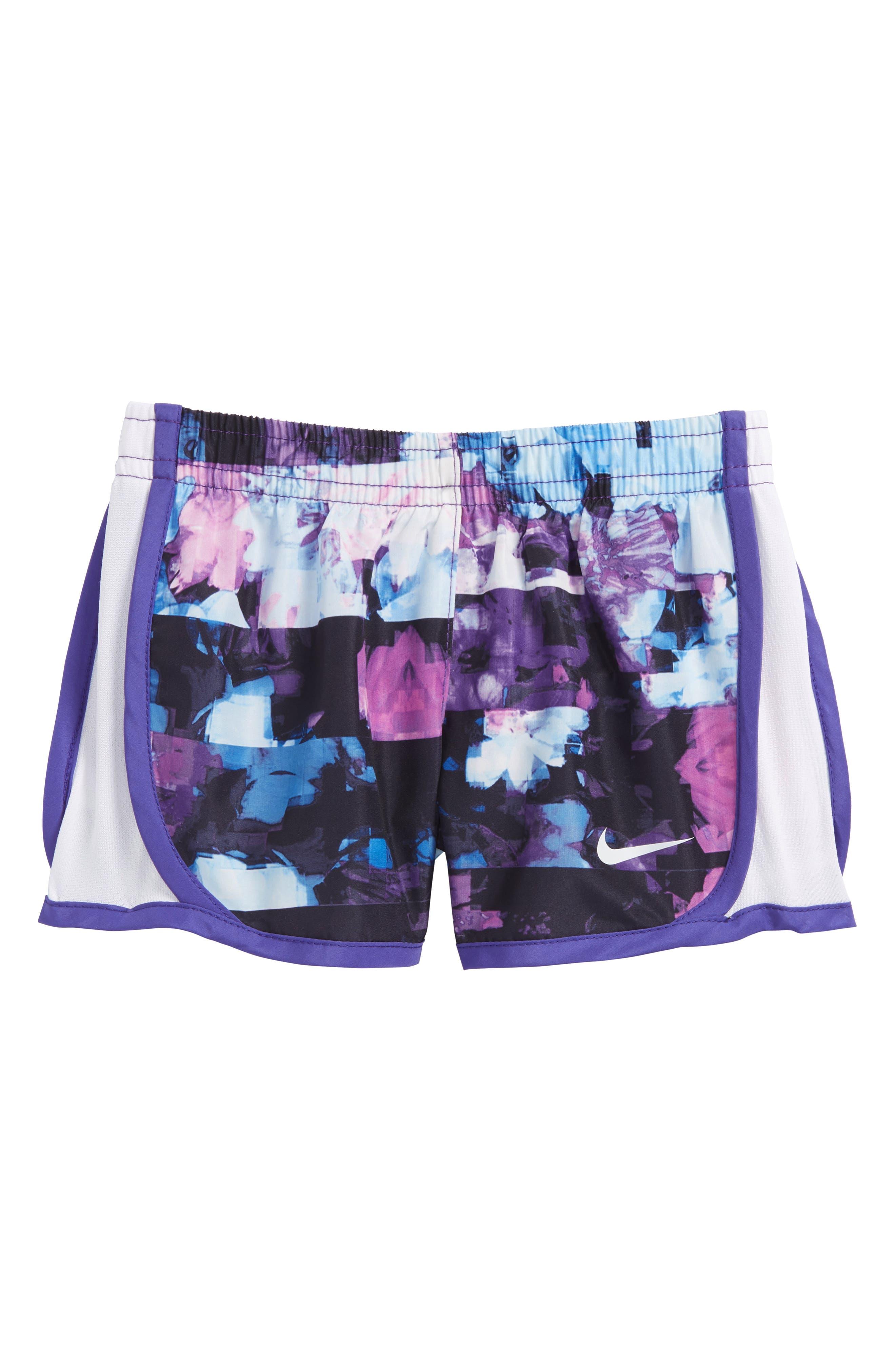 Alternate Image 1 Selected - Nike Tempo Dry Shorts (Baby Girls)