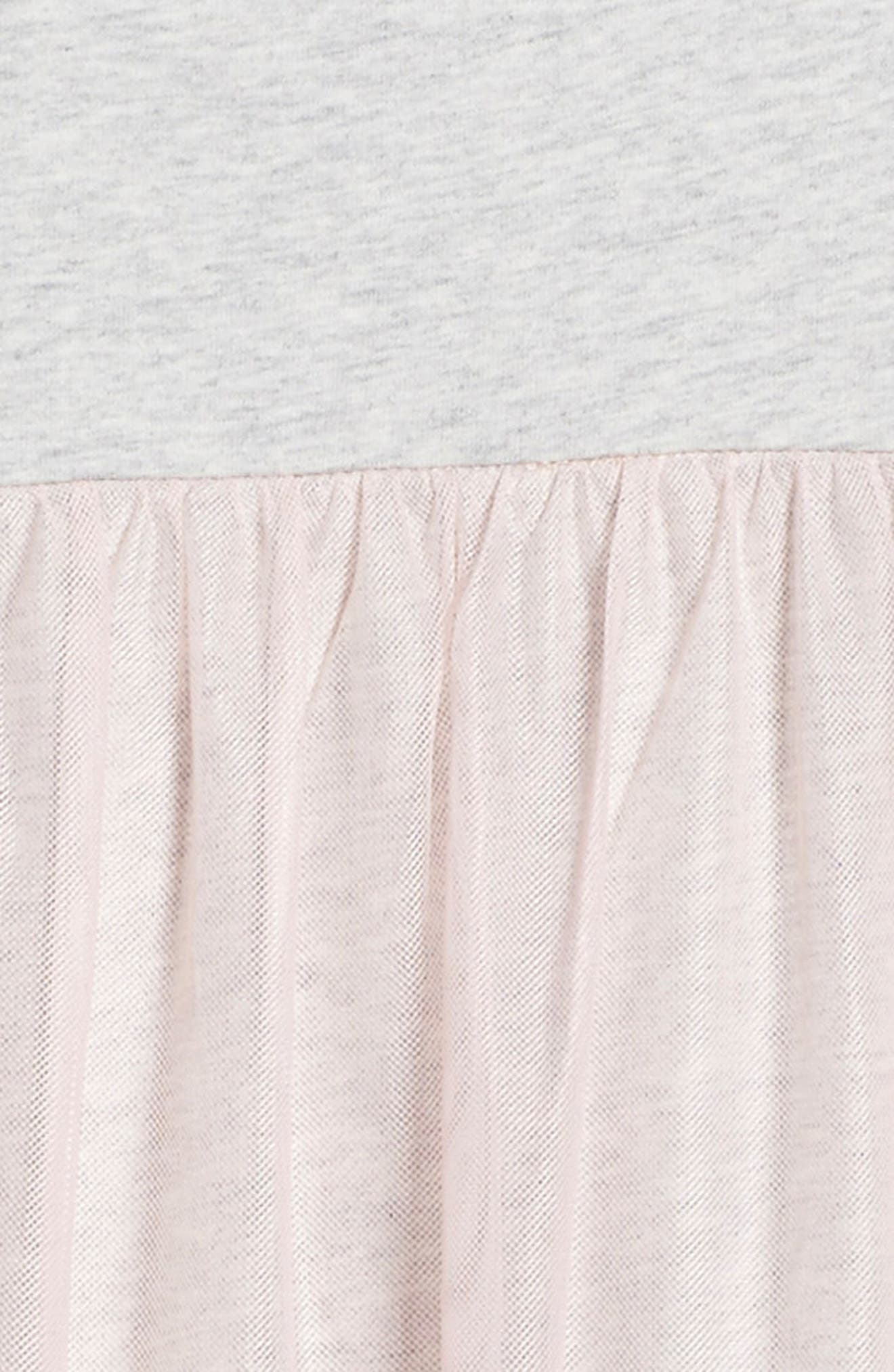 Mackenzie Tulle Dress,                             Alternate thumbnail 3, color,                             Soft Peach