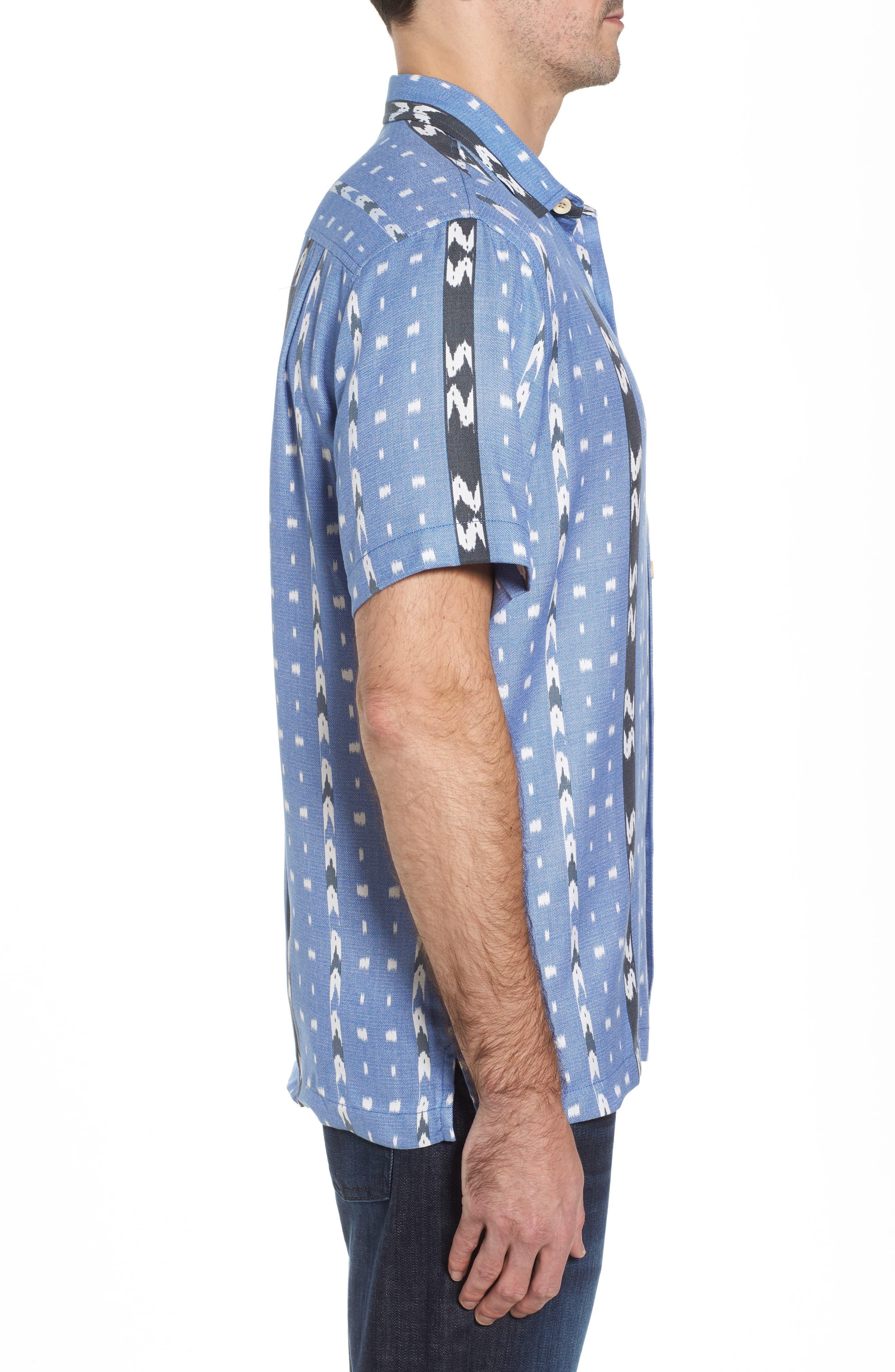 Alternate Image 3  - Tommy Bahama Ikat Don't Stop Silk Blend Camp Shirt