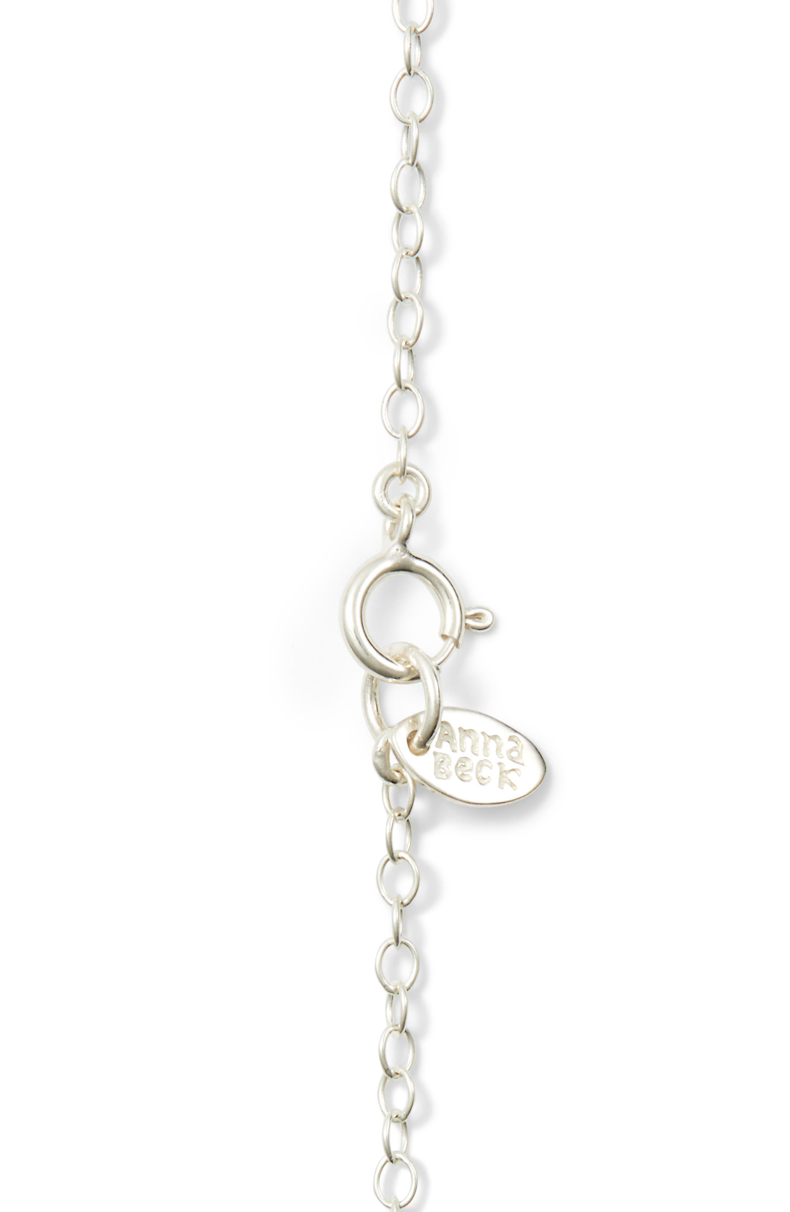 'Gili' Pendant Necklace,                             Alternate thumbnail 5, color,                             Silver