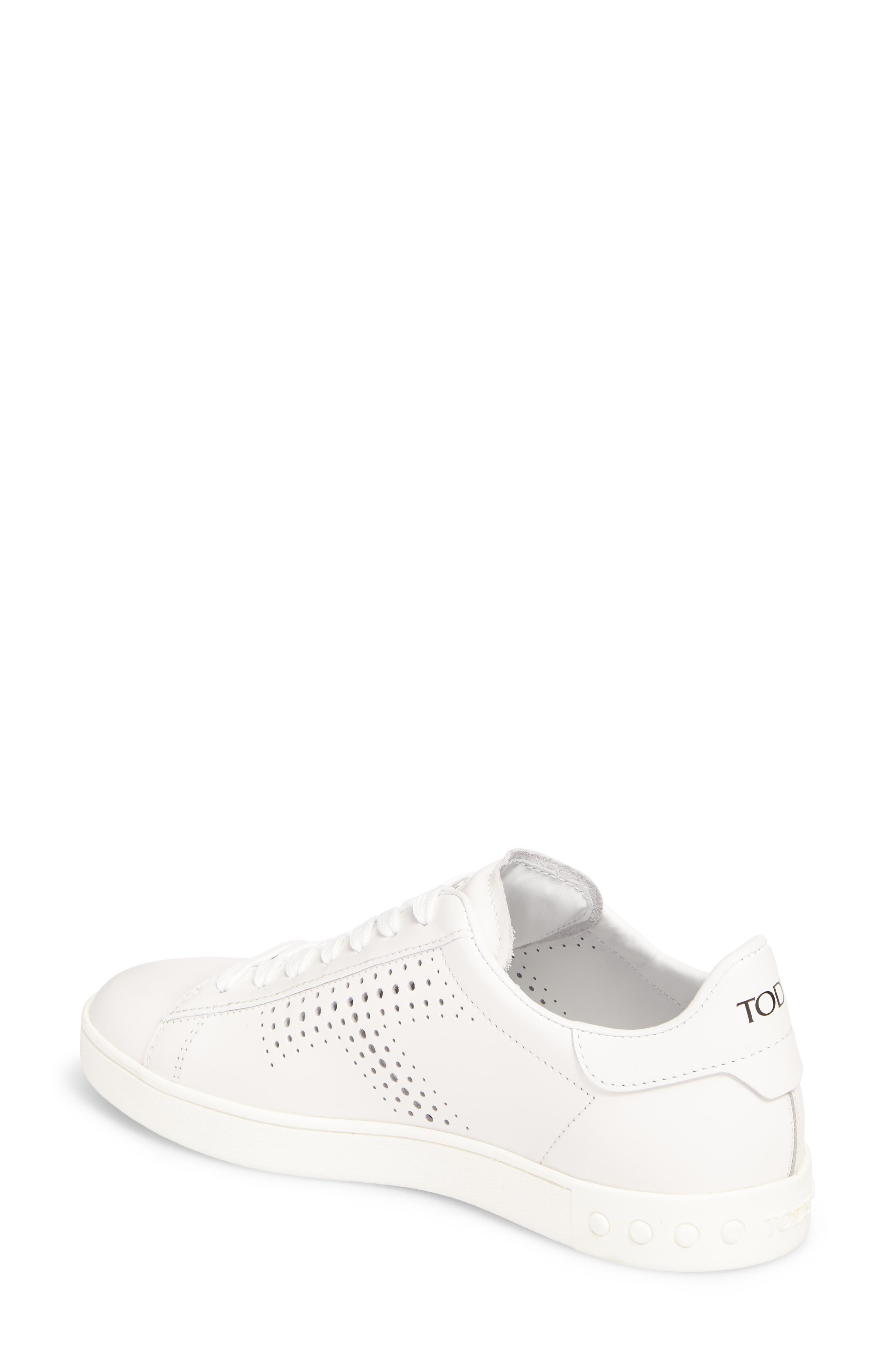 Perforated T Sneaker,                             Alternate thumbnail 2, color,                             White