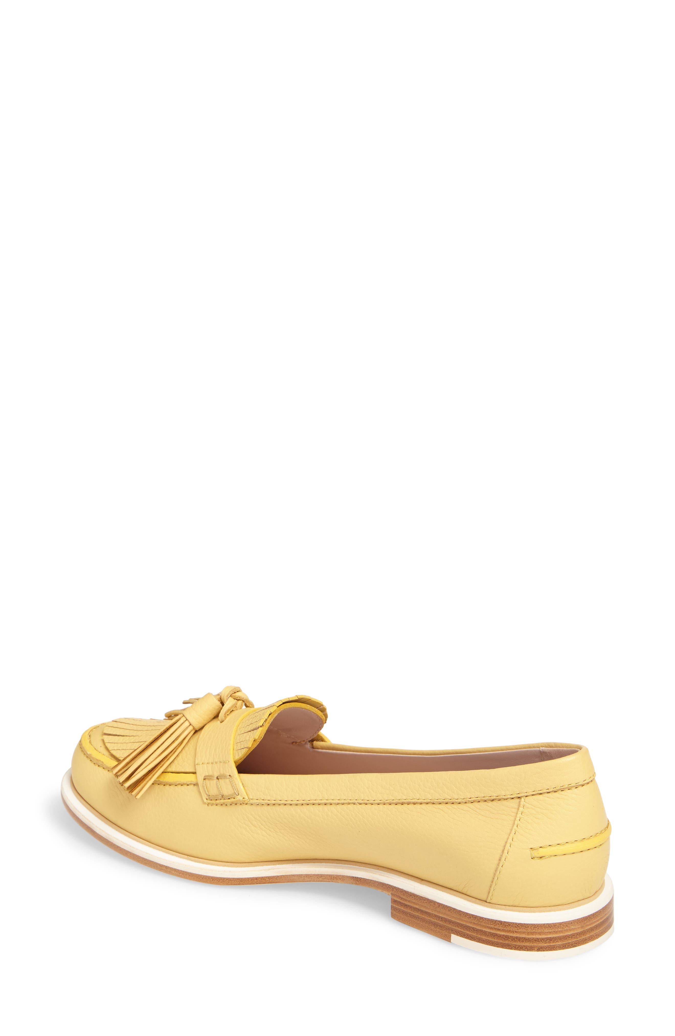 Fringe Tassel Loafer,                             Alternate thumbnail 2, color,                             Pale Yellow