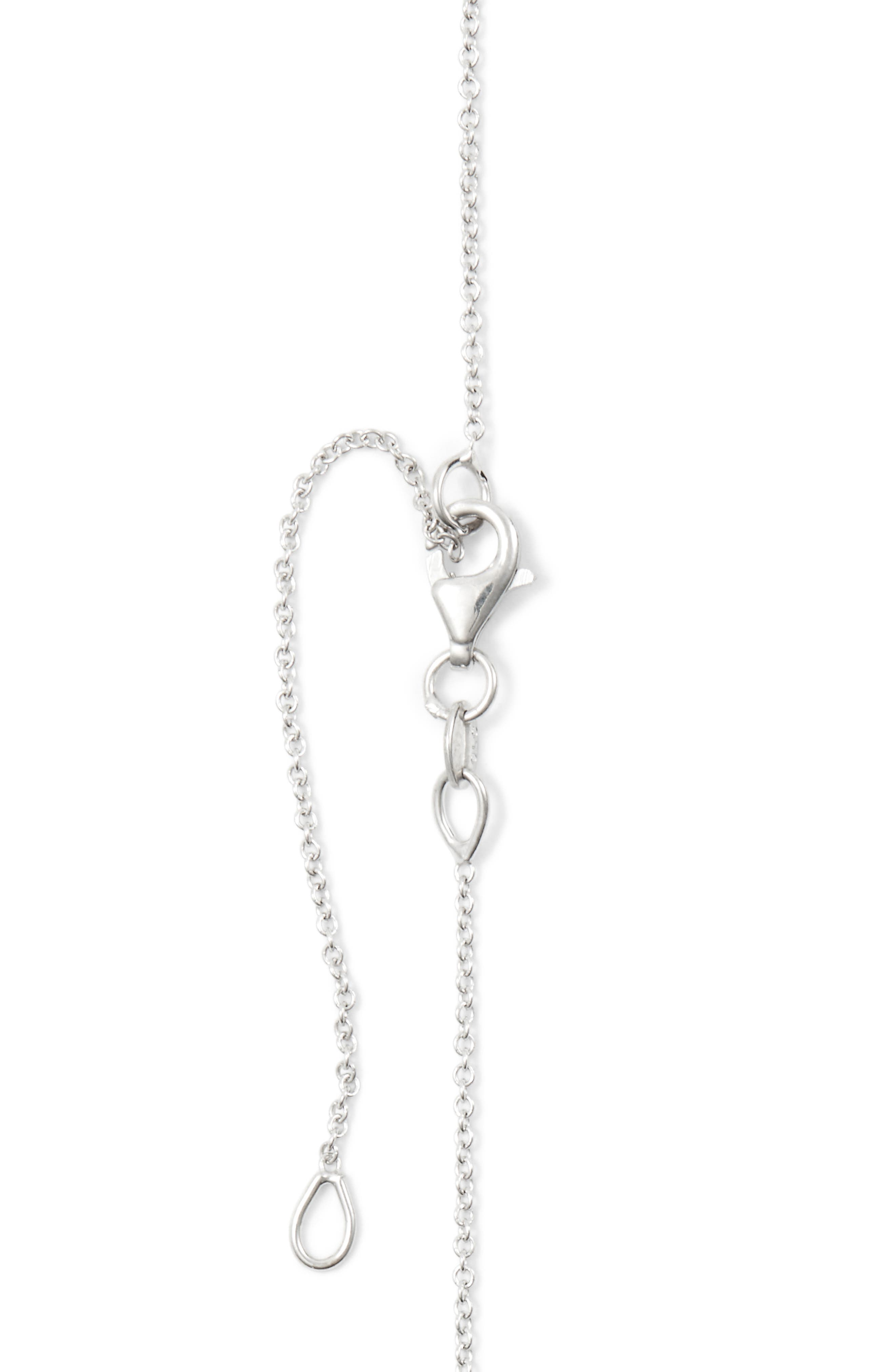 Pavé Diamond Pendant Necklace,                             Alternate thumbnail 5, color,                             White Gold