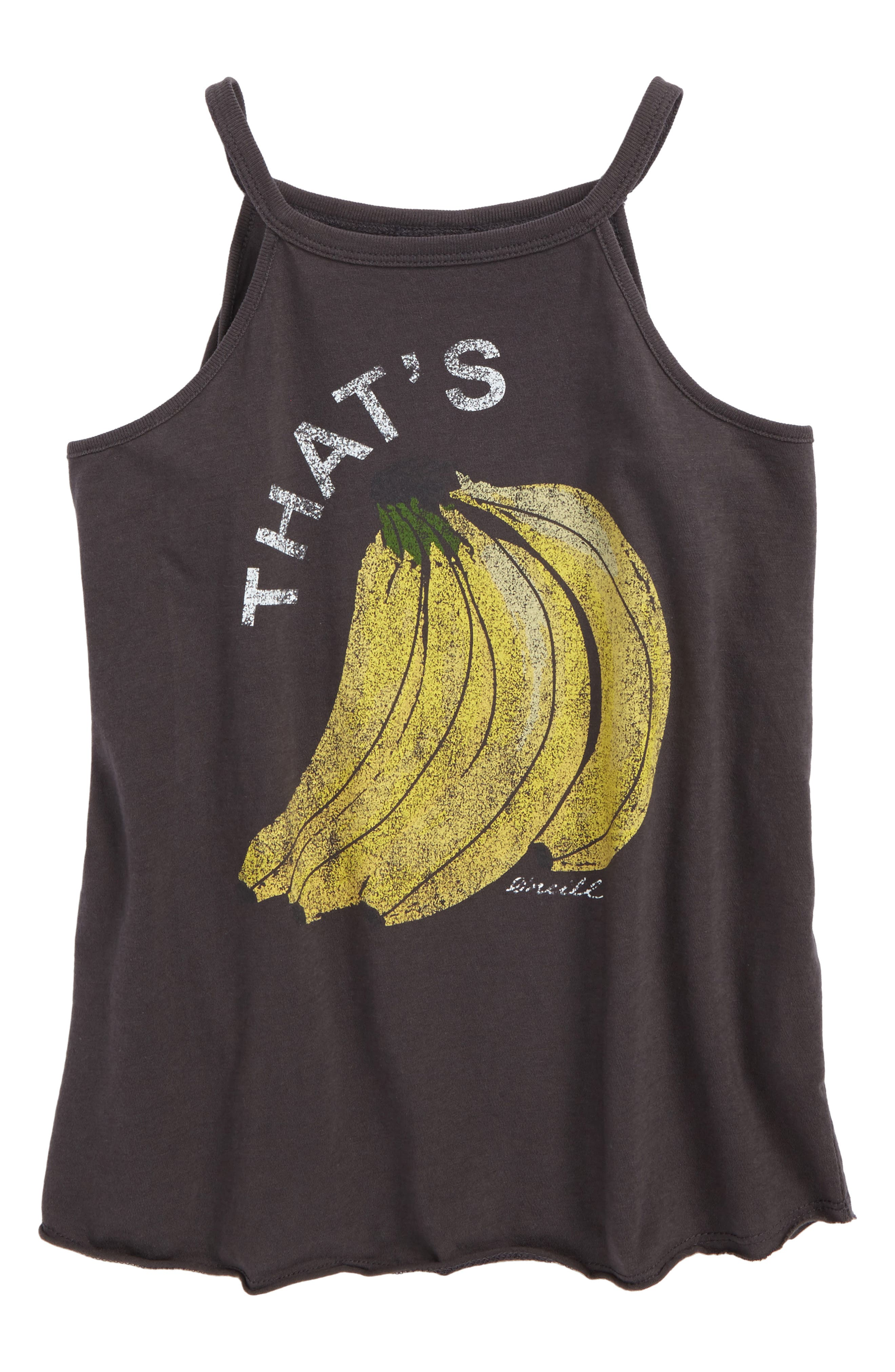 That's Bananas Graphic Tee,                             Main thumbnail 1, color,                             Washed Black - Fad