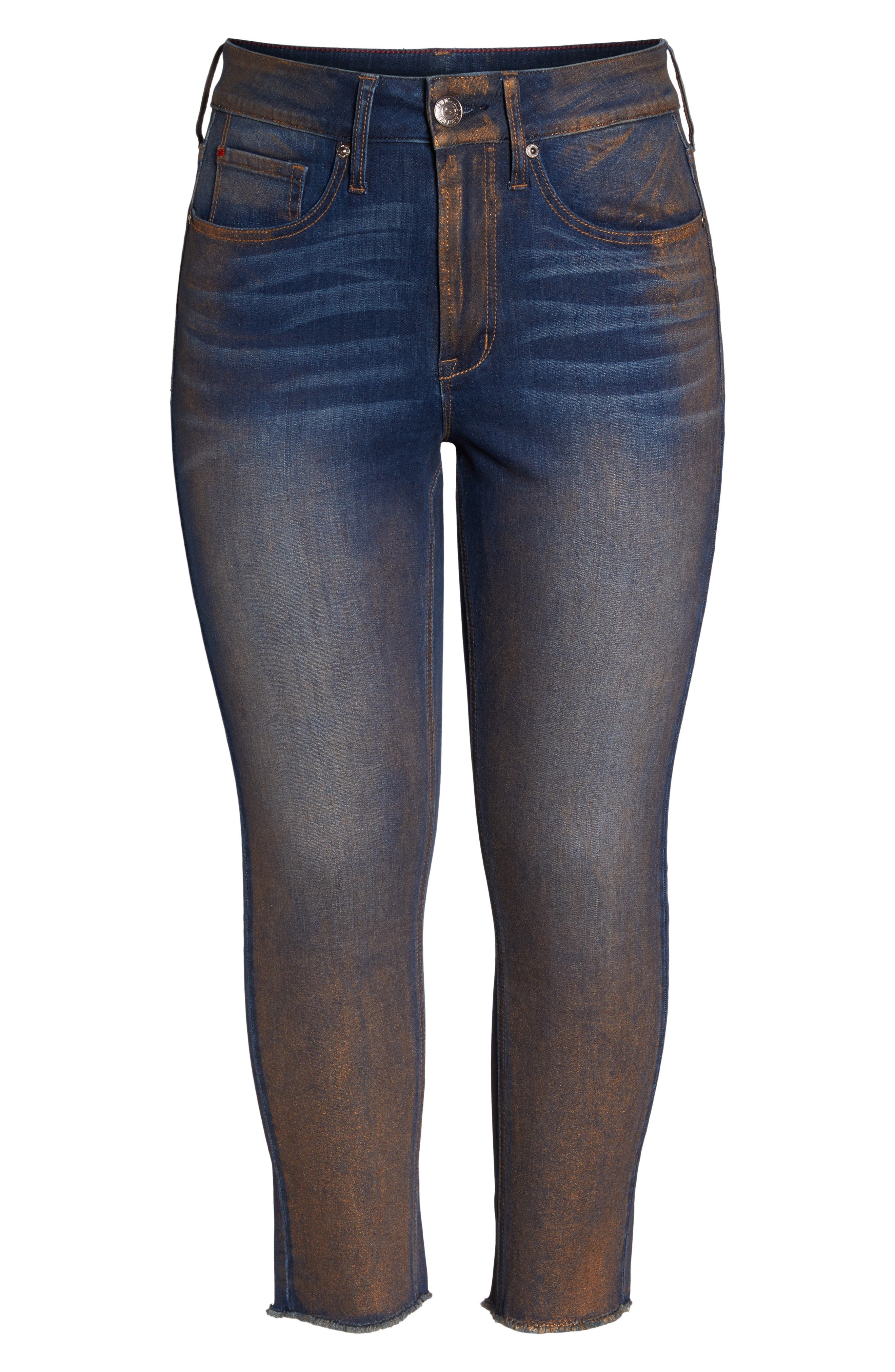 Alternate Image 6  - Seven7 Raw Hem Skinny Ankle Jeans (Plus Size)