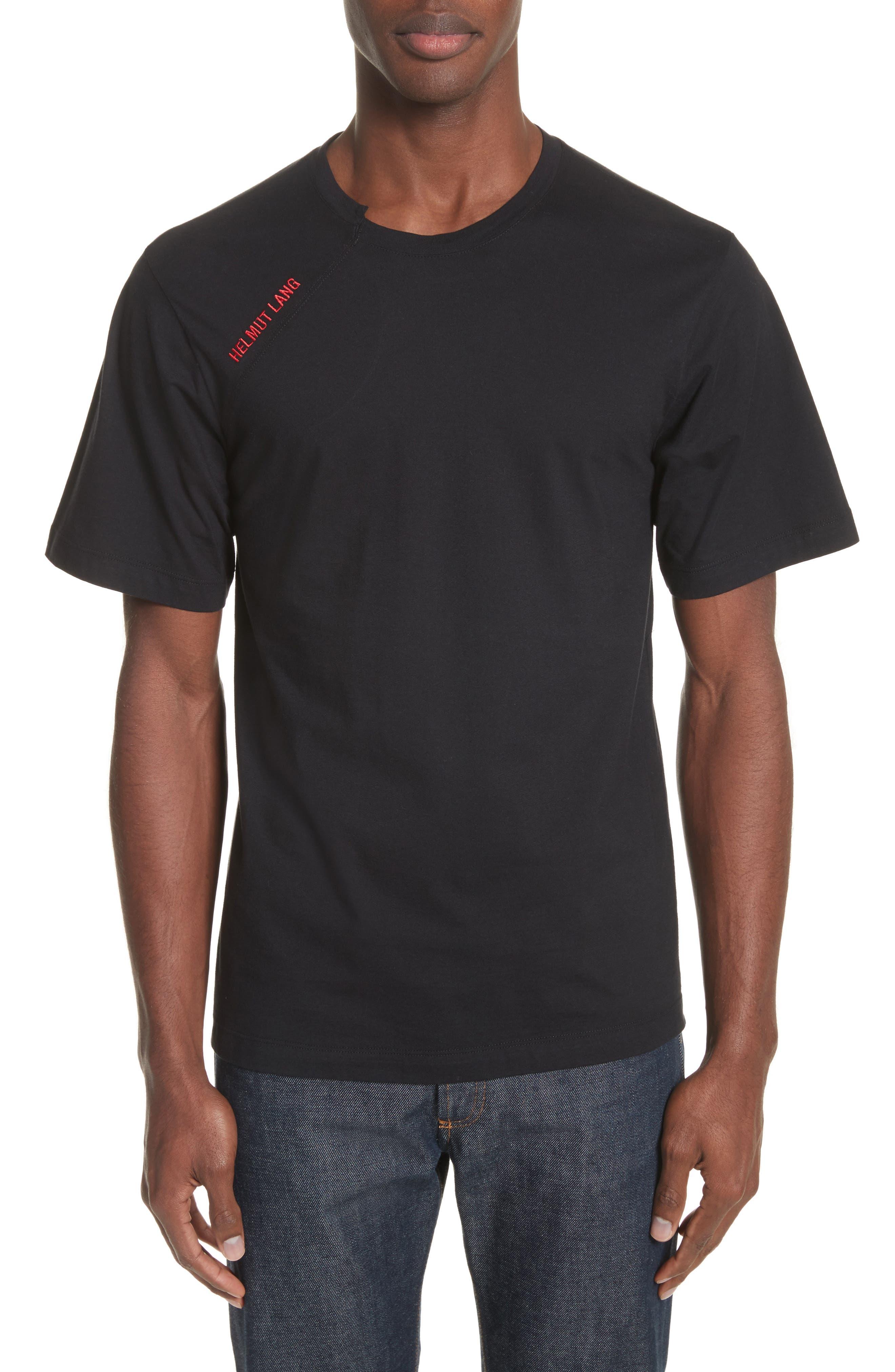 Helmut Lang Cut Neck T-Shirt