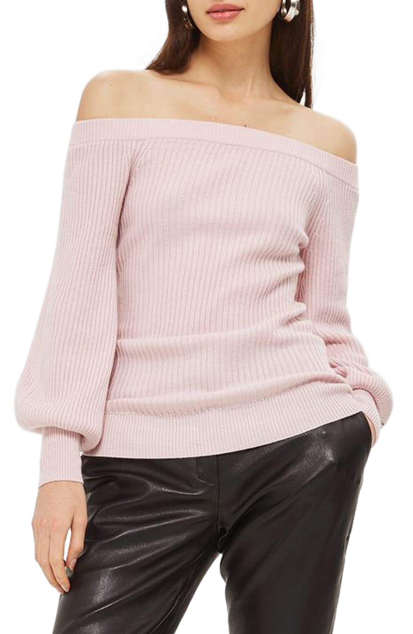 Topshop Off the Shouler Sweater
