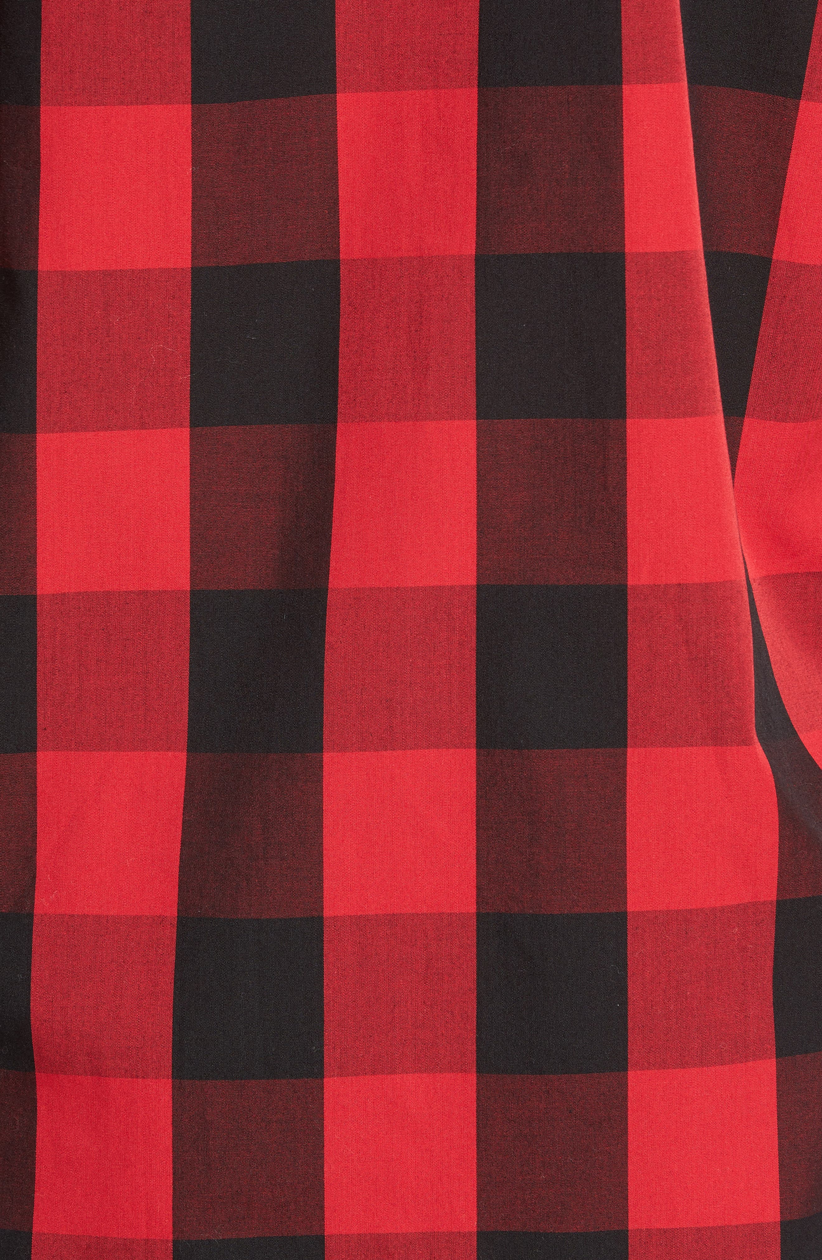 Cotton Pajama Shirt,                             Alternate thumbnail 5, color,                             Montana Plaid/ Polo Black