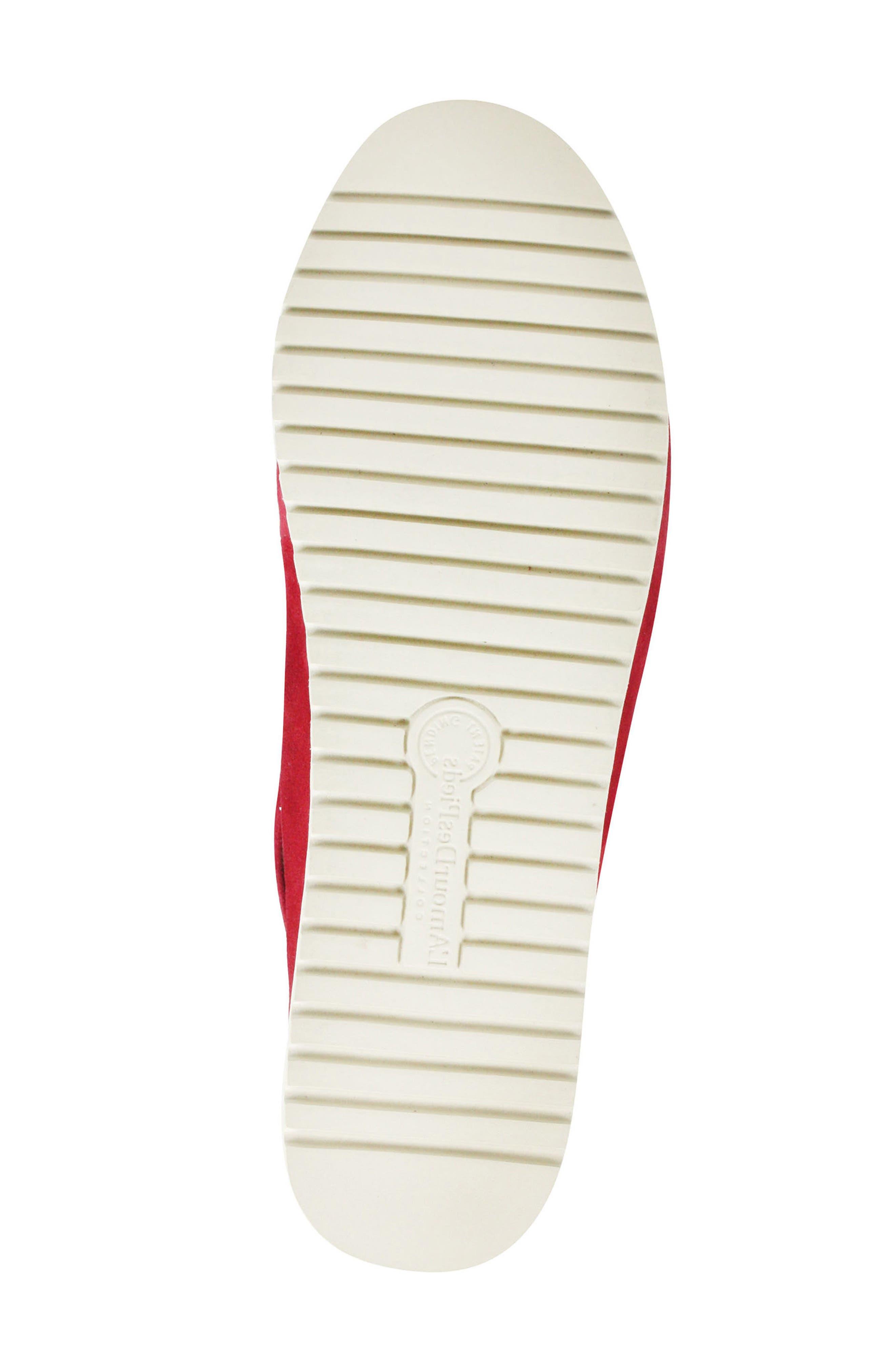 Adalicia Platform Sandal,                             Alternate thumbnail 6, color,                             Bright Red Suede