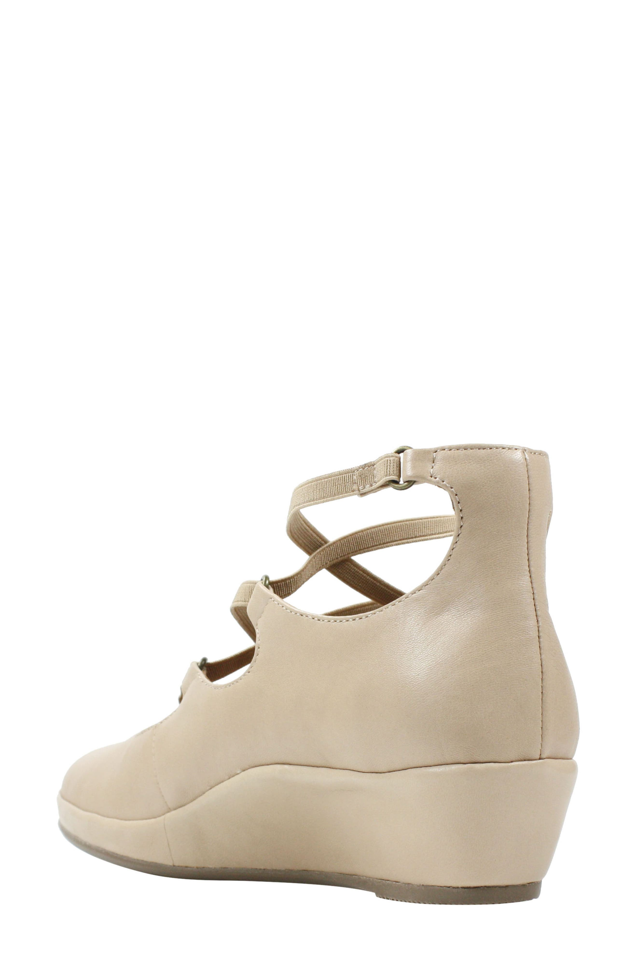 Benham Wedge,                             Alternate thumbnail 2, color,                             Nude Leather