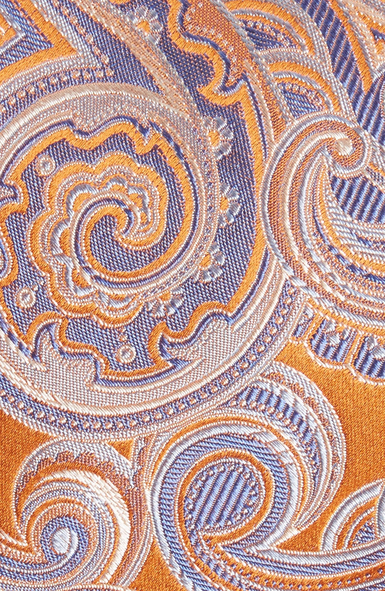 Paisley Silk Tie,                             Alternate thumbnail 2, color,                             Orange