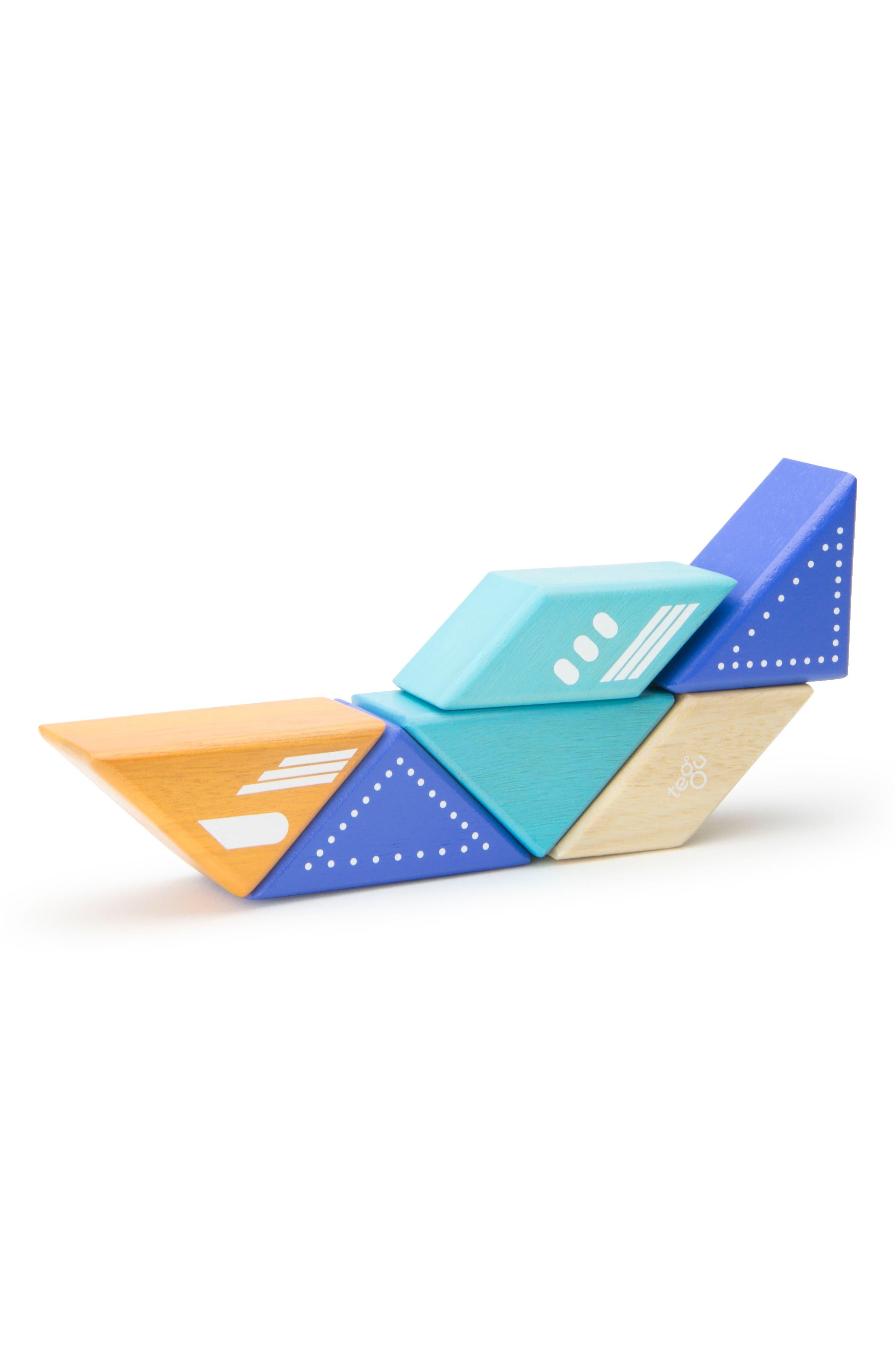 Travel Pals 6-Piece Jet Magnetic Block Set,                             Alternate thumbnail 3, color,                             Blue