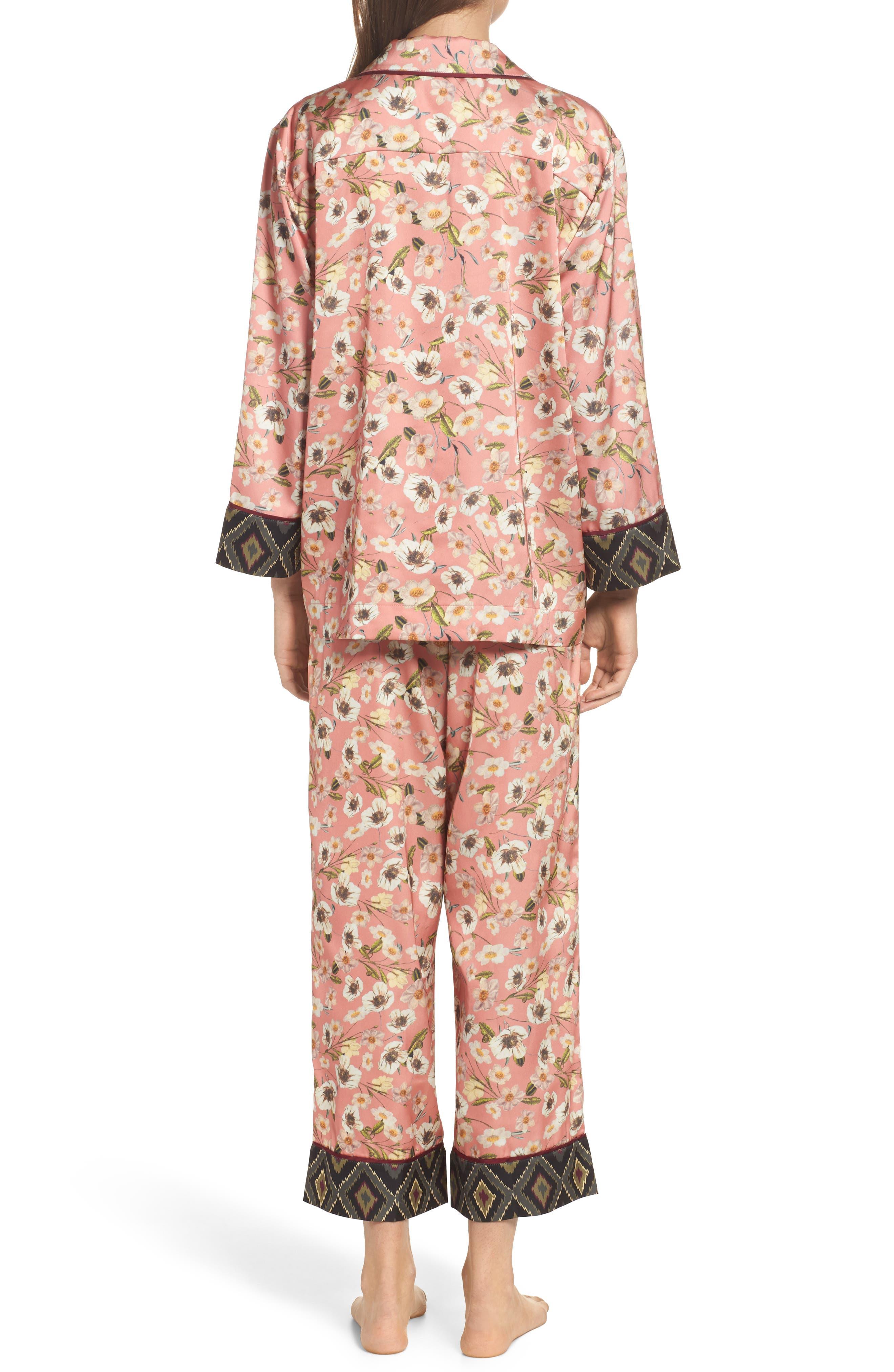 Print Pajamas,                             Alternate thumbnail 2, color,                             Peach
