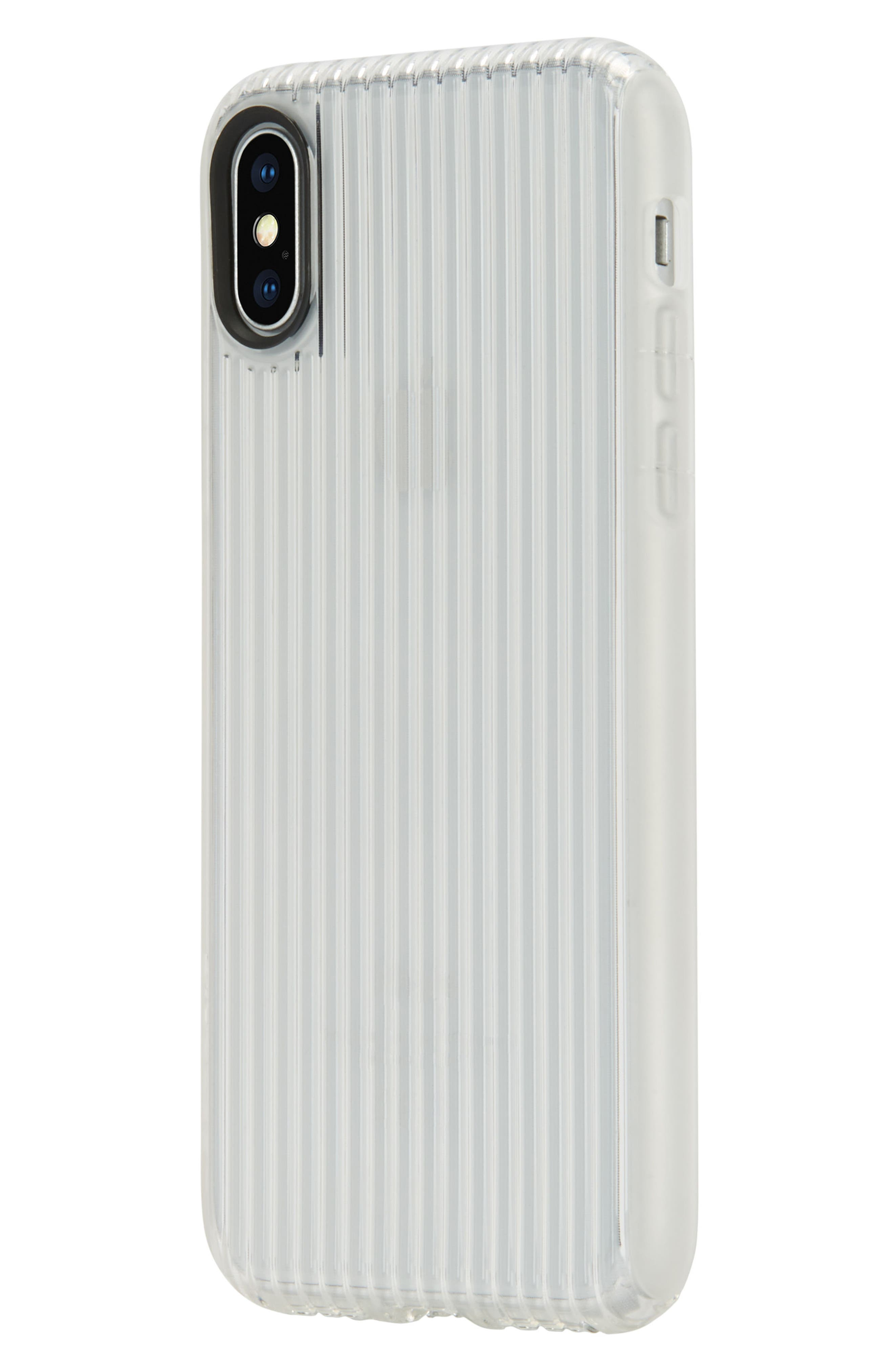 Protective iPhone X Case,                             Alternate thumbnail 4, color,                             Clear