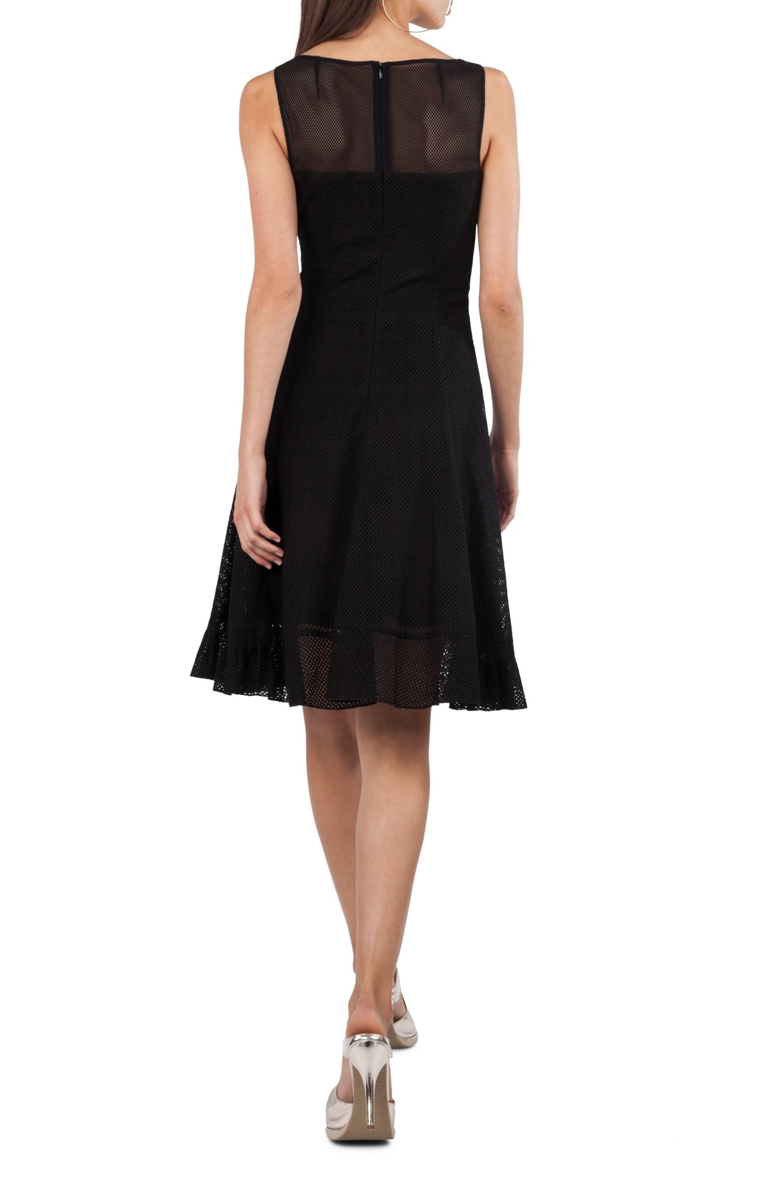 Perforated Tank Dress,                             Alternate thumbnail 2, color,                             Black