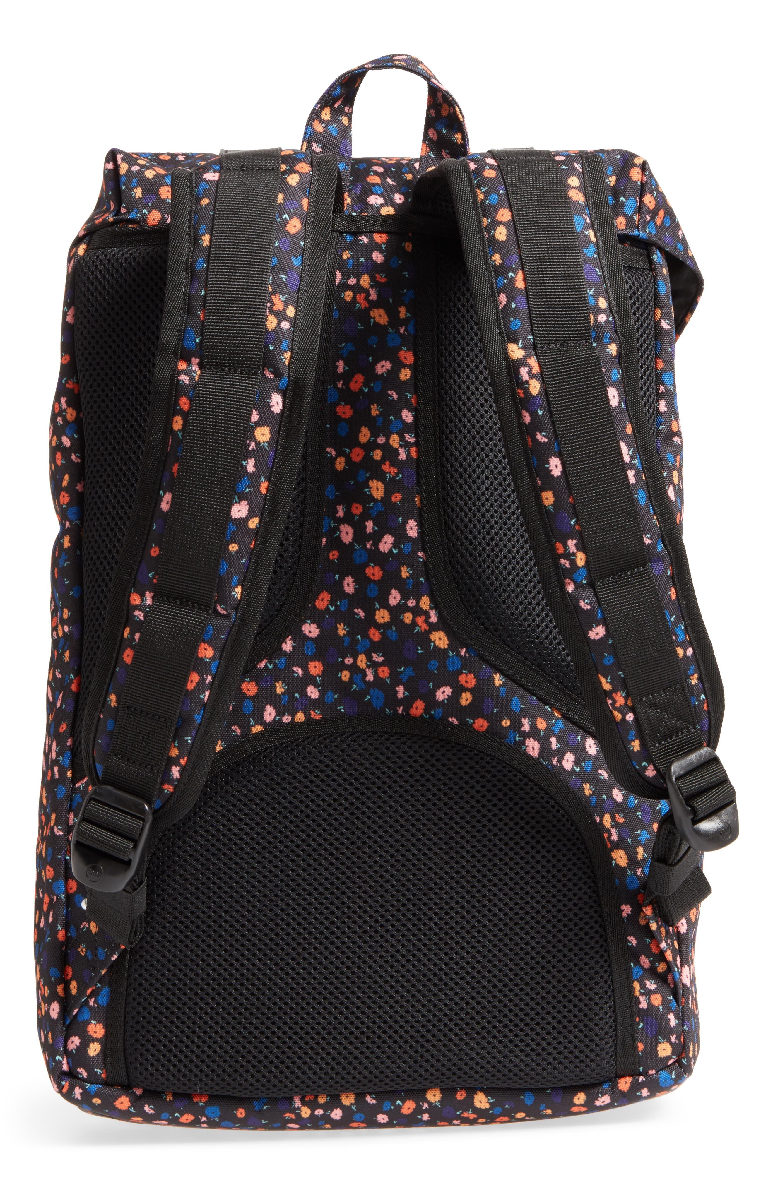 Little America - Mid Volume Backpack,                             Alternate thumbnail 5, color,                             Black Mini Floral