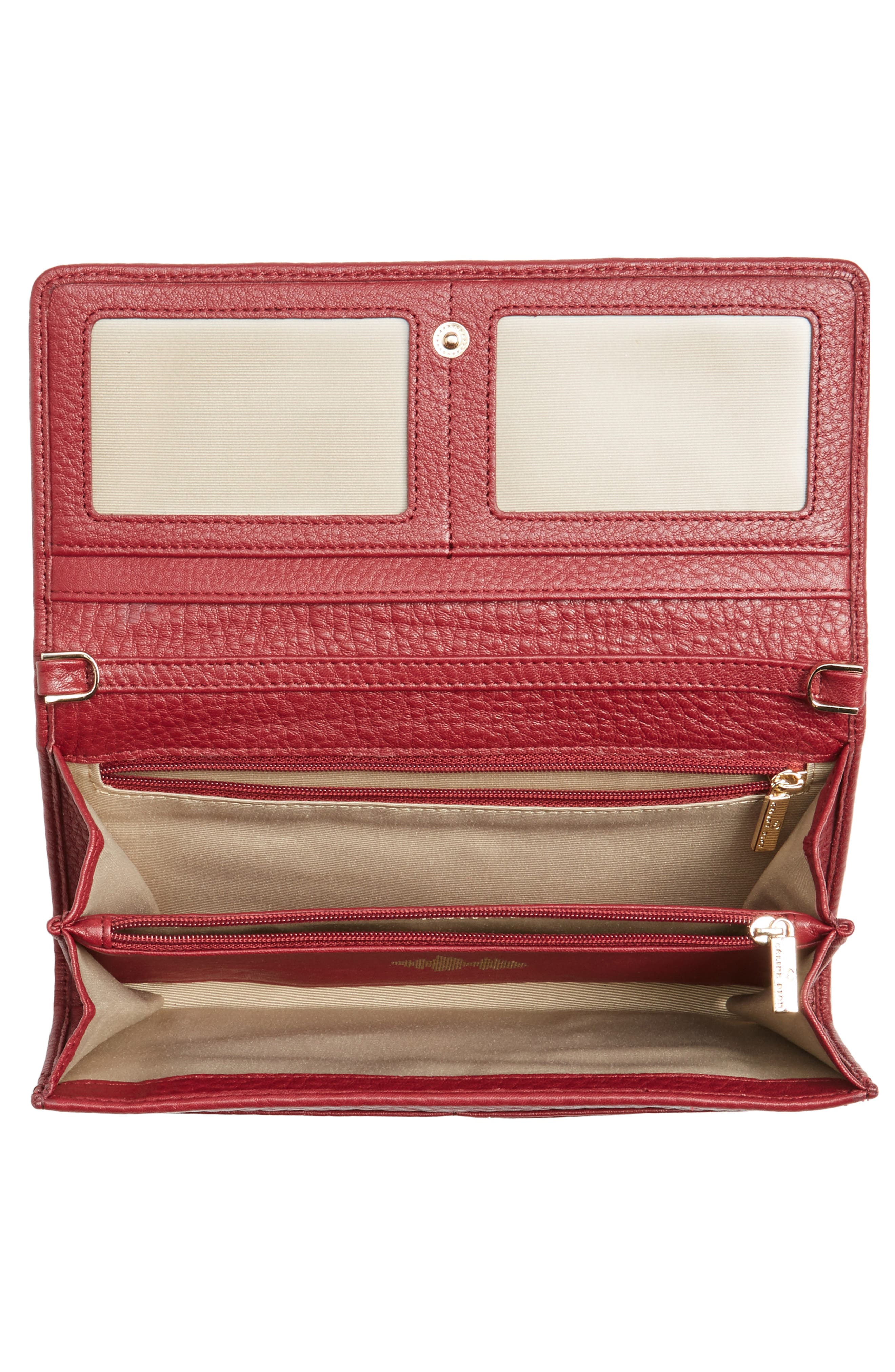 Alternate Image 4  - Céline Dion Adagio Leather Crossbody Wallet