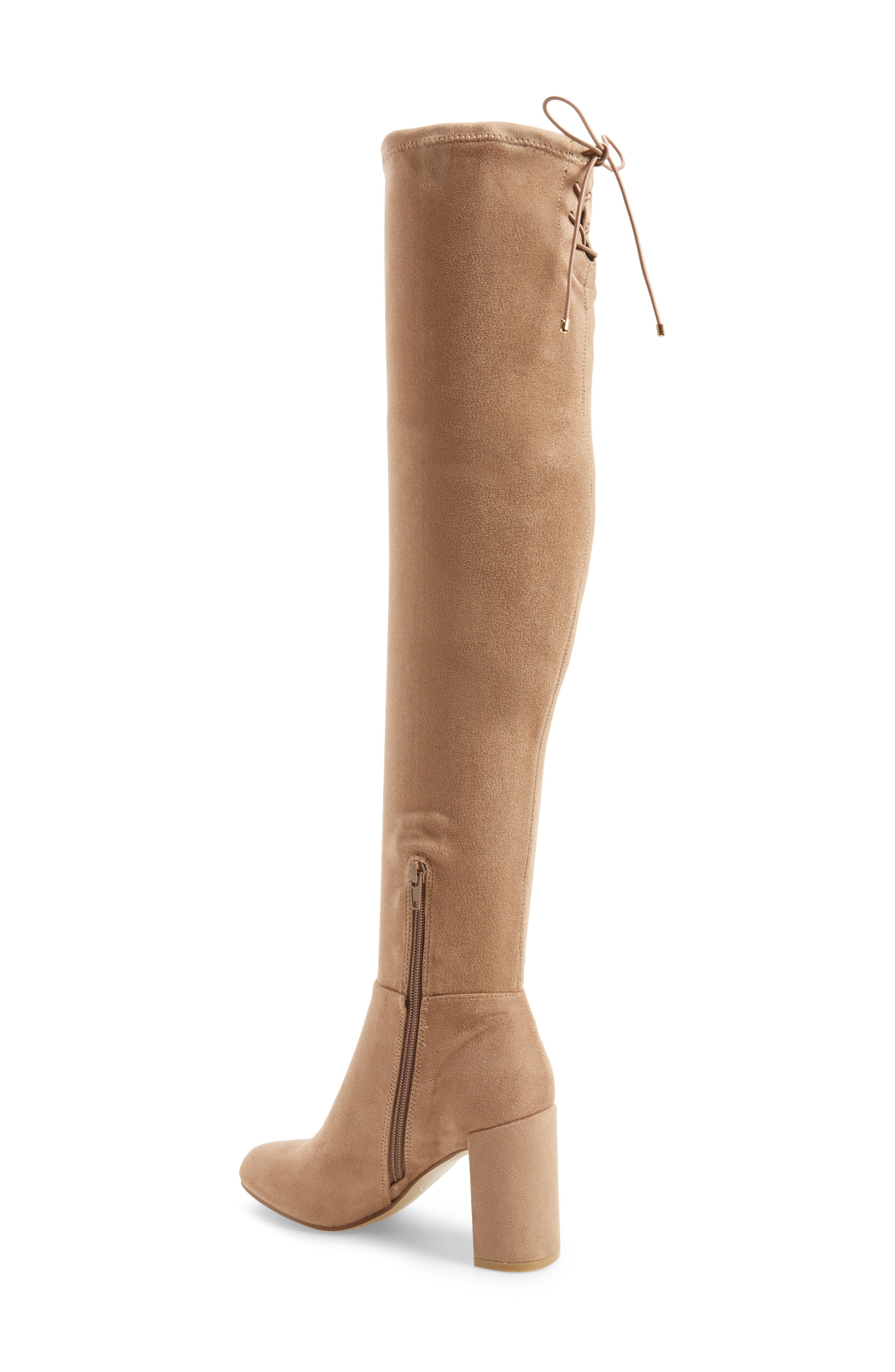 Krush Over the Knee Boot,                             Alternate thumbnail 2, color,                             Mink Suede