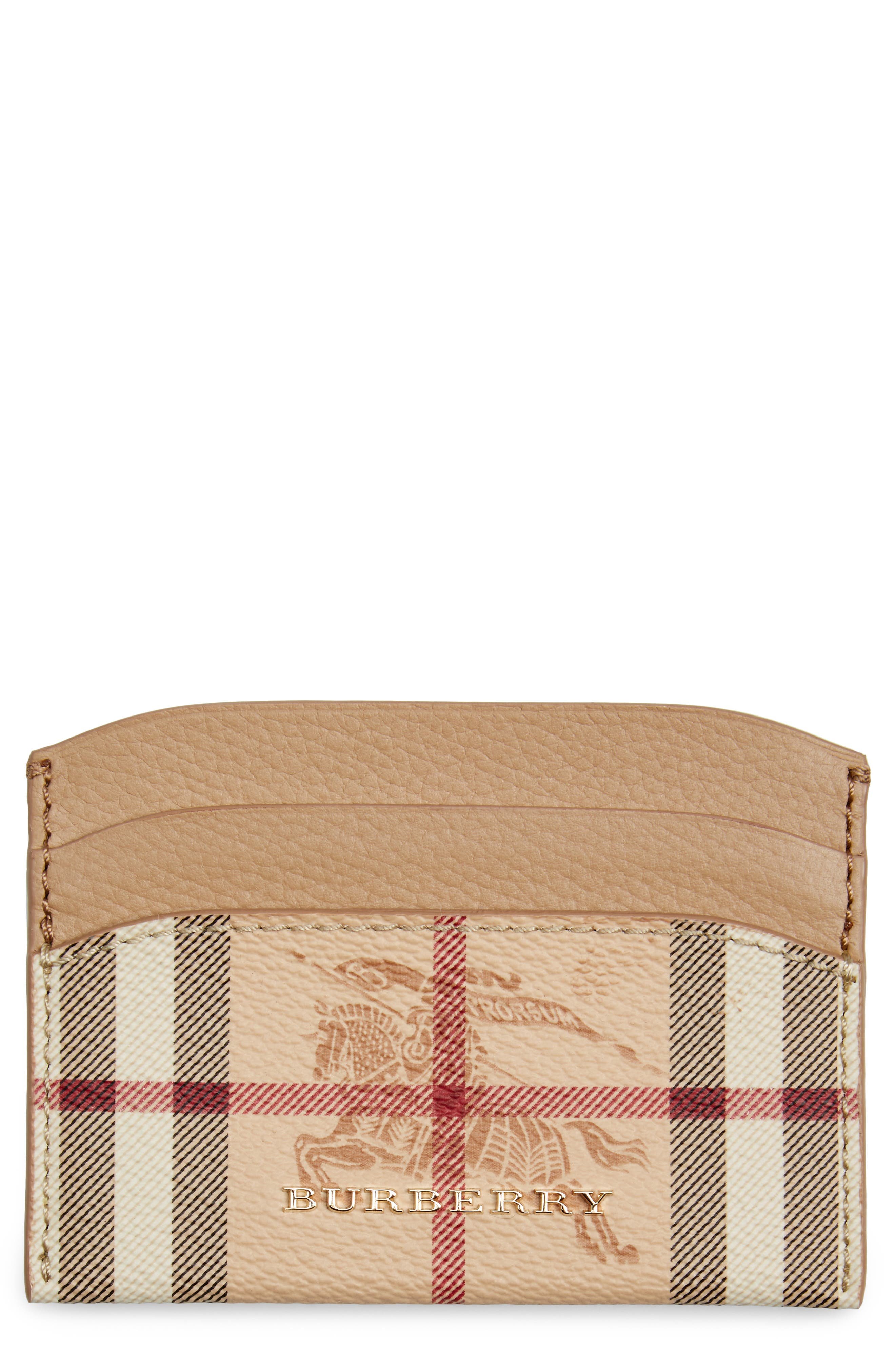 Burberry Izzy Haymarket Card Case