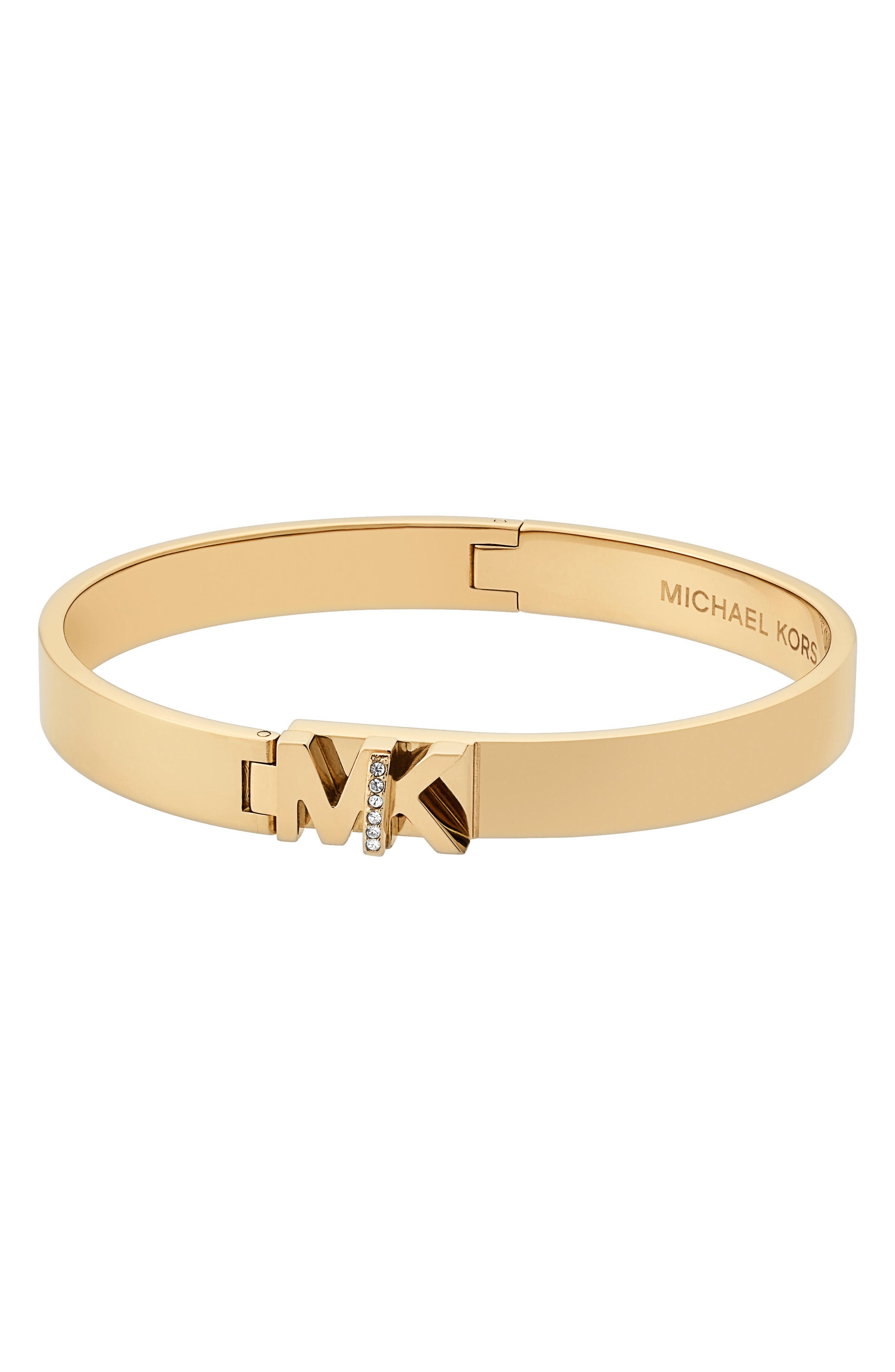 Turnlock Bangle,                             Main thumbnail 1, color,                             Gold