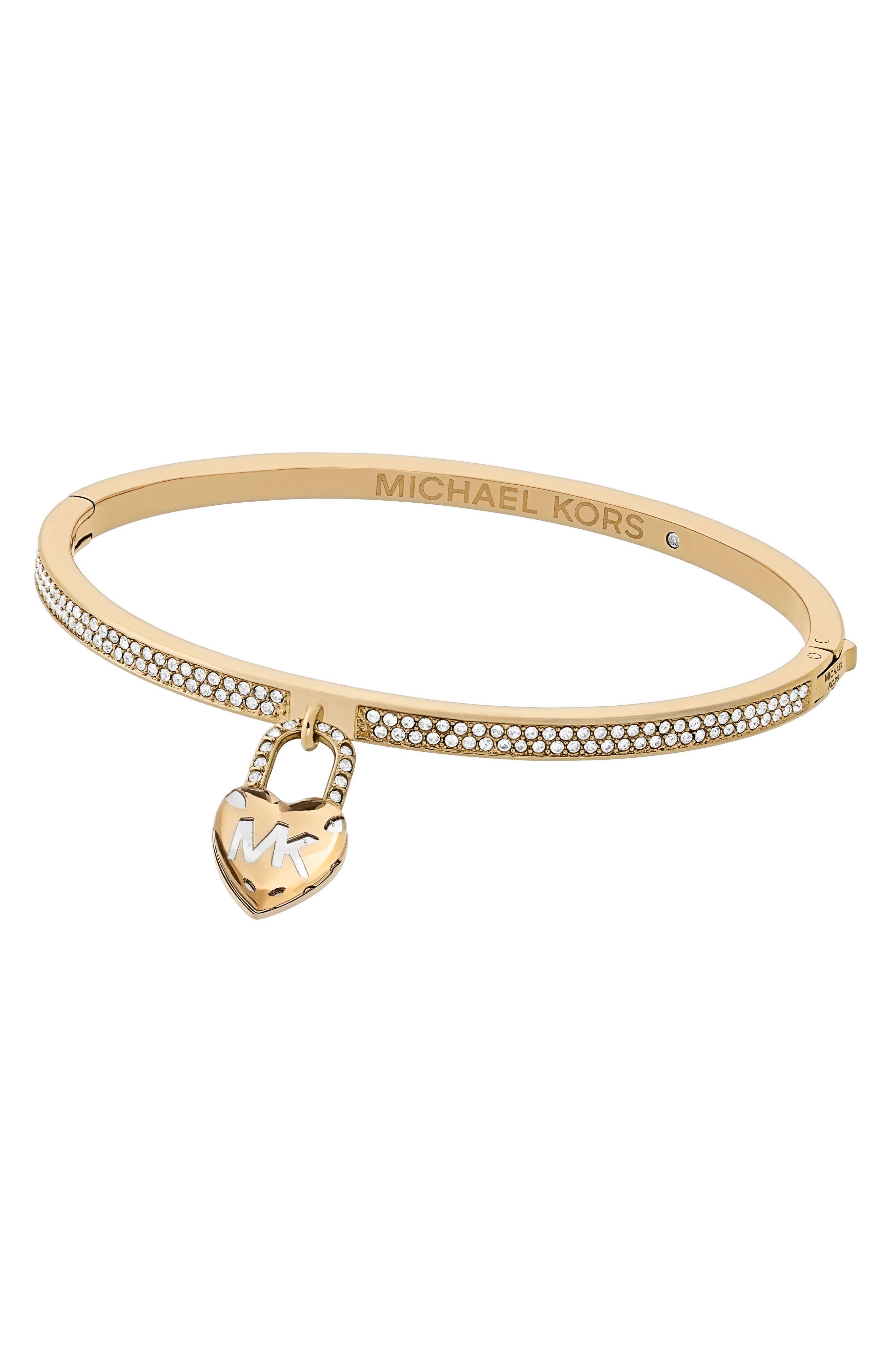 Michael Kors Bracelets CRYSTAL HINGE BANGLE