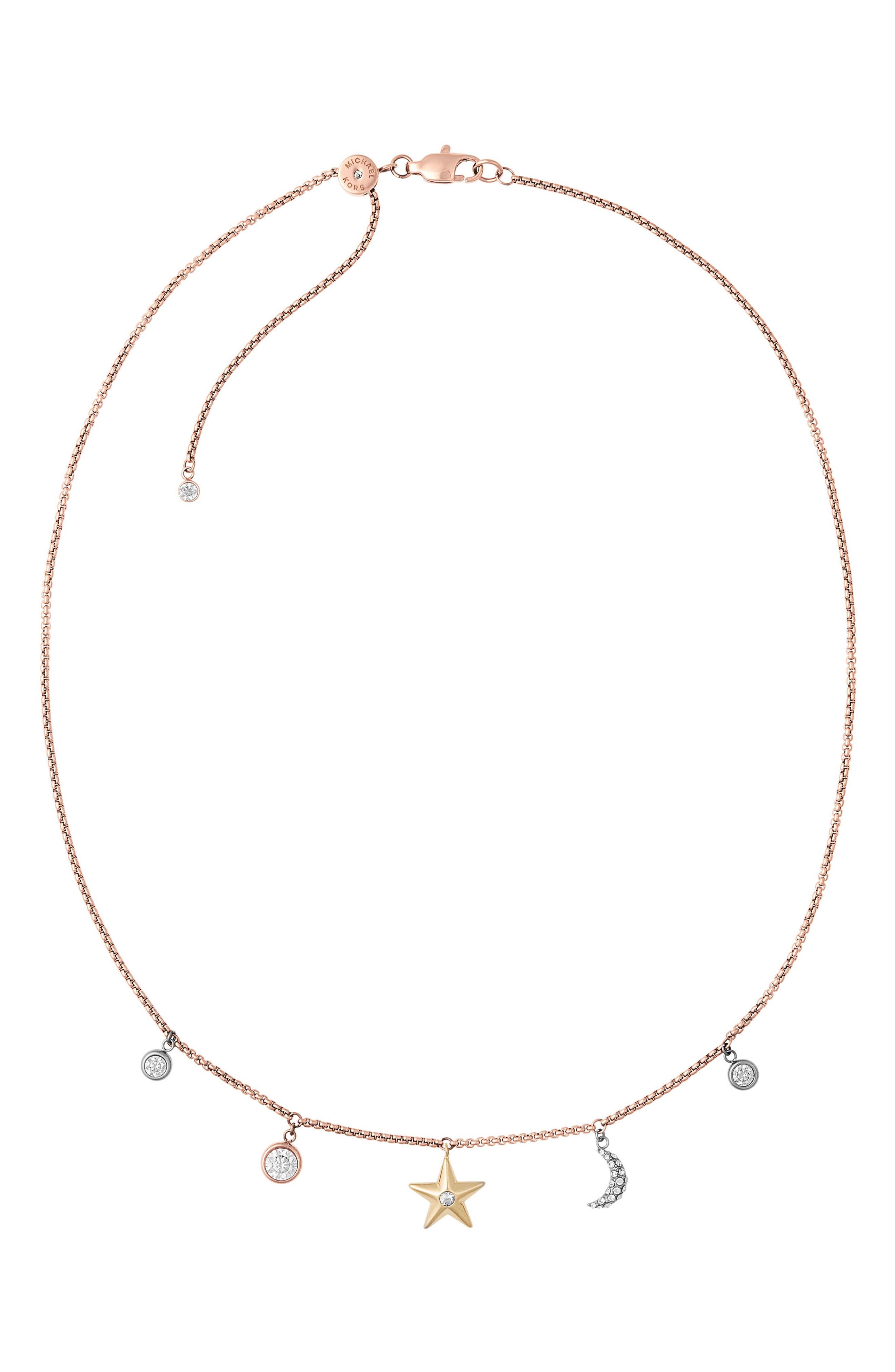 Michael Kors Crystal Charm Necklace